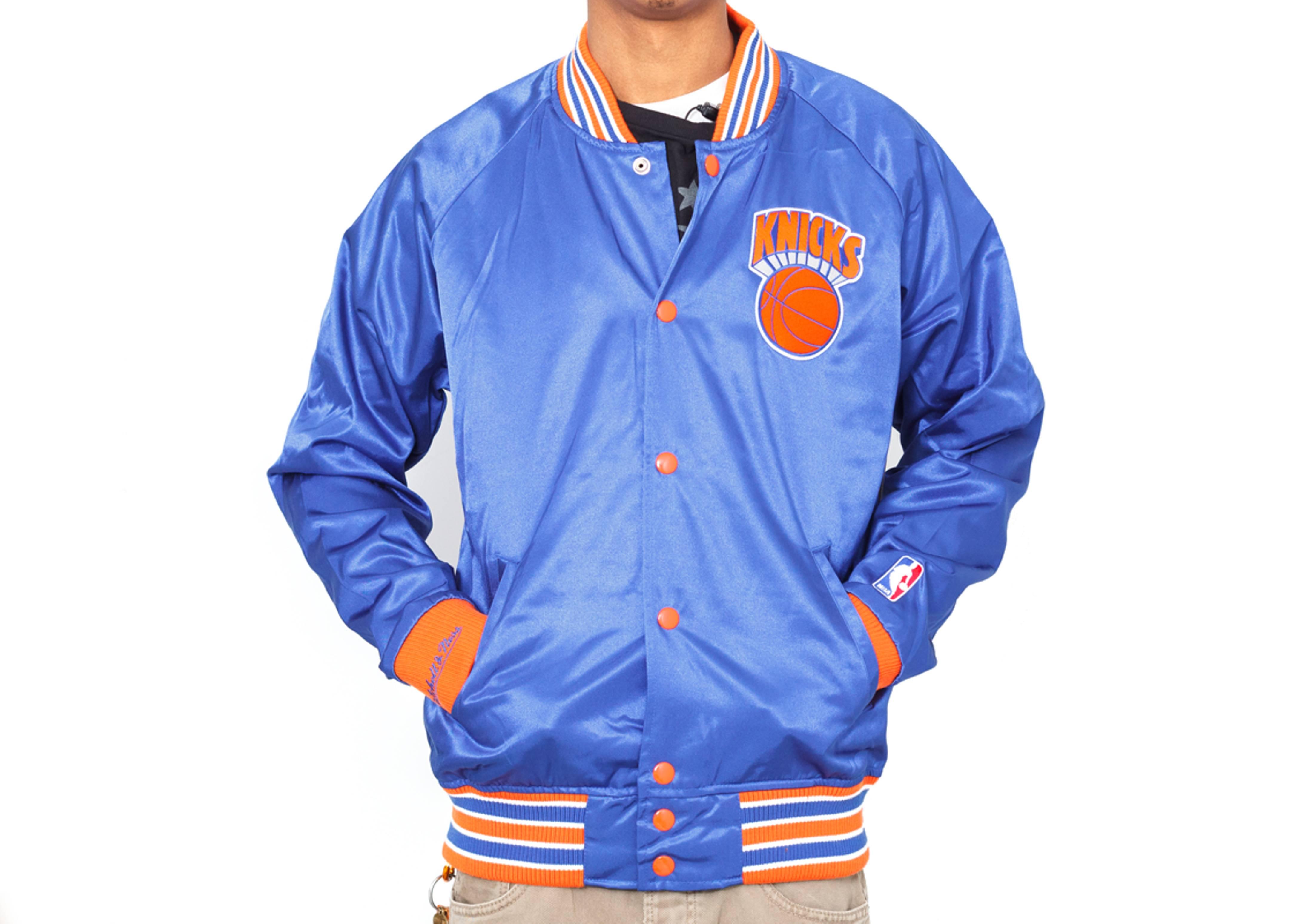 new york knicks satin jacket
