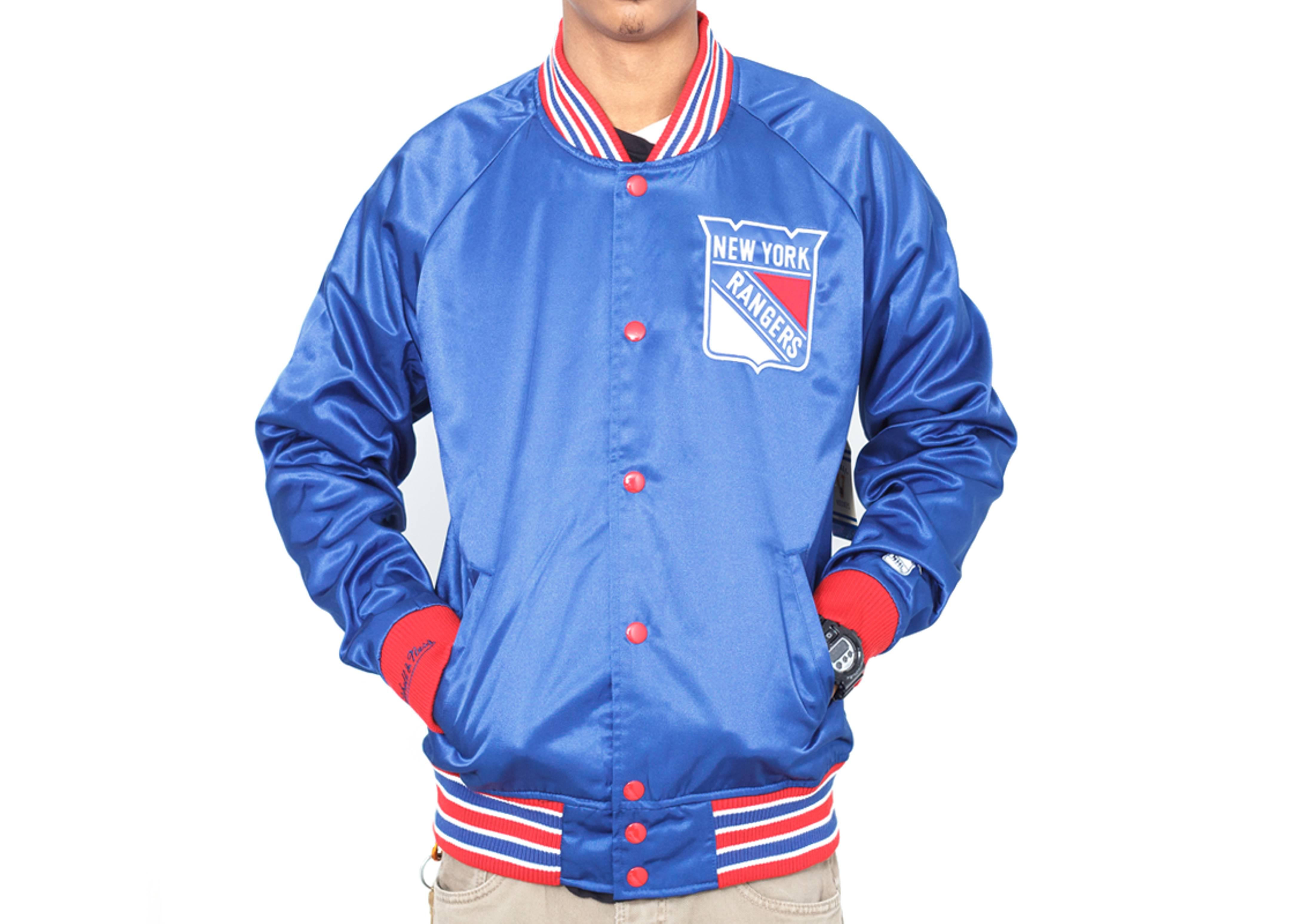 new york rangers satin jacket