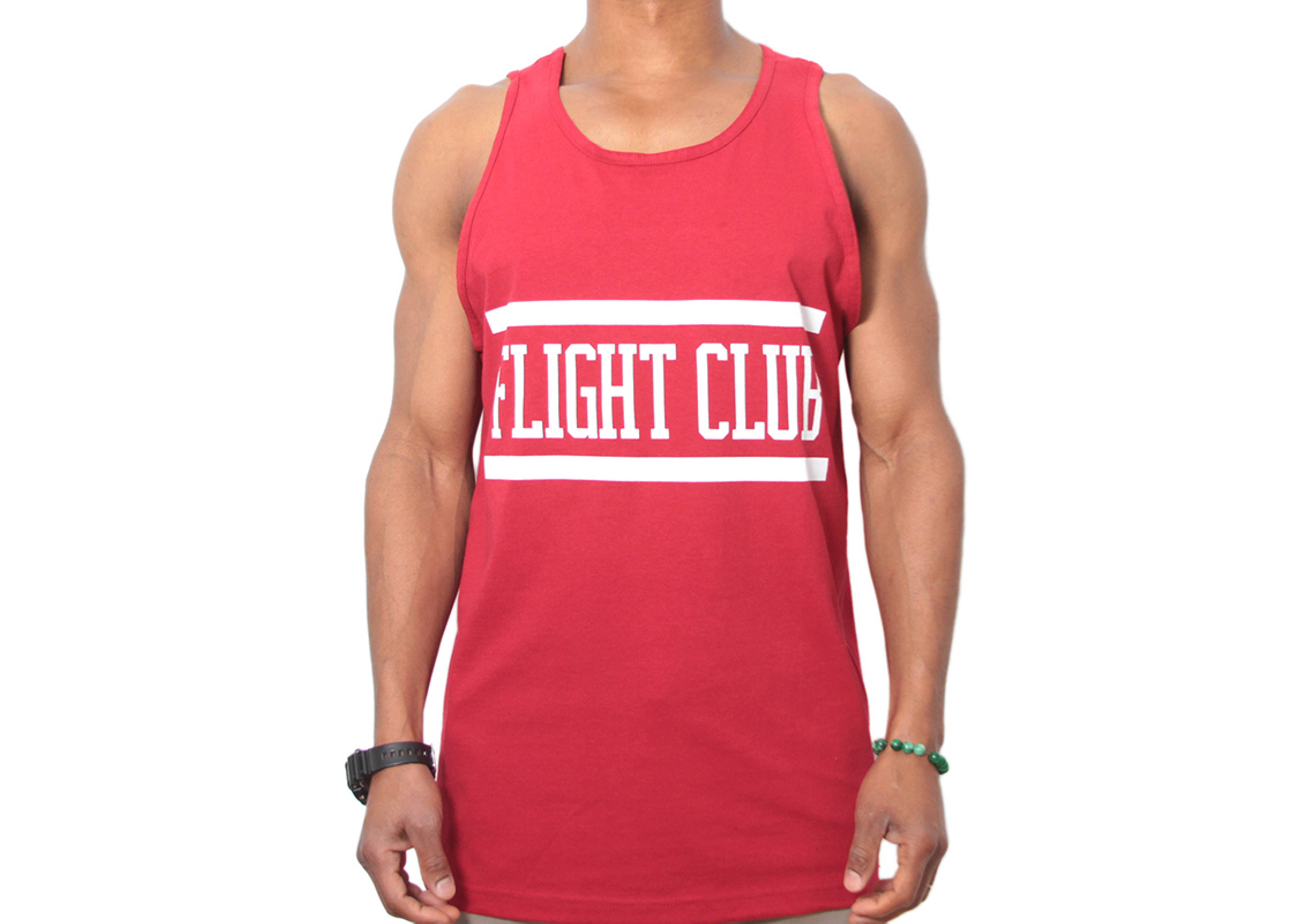 collegiate stripe tank