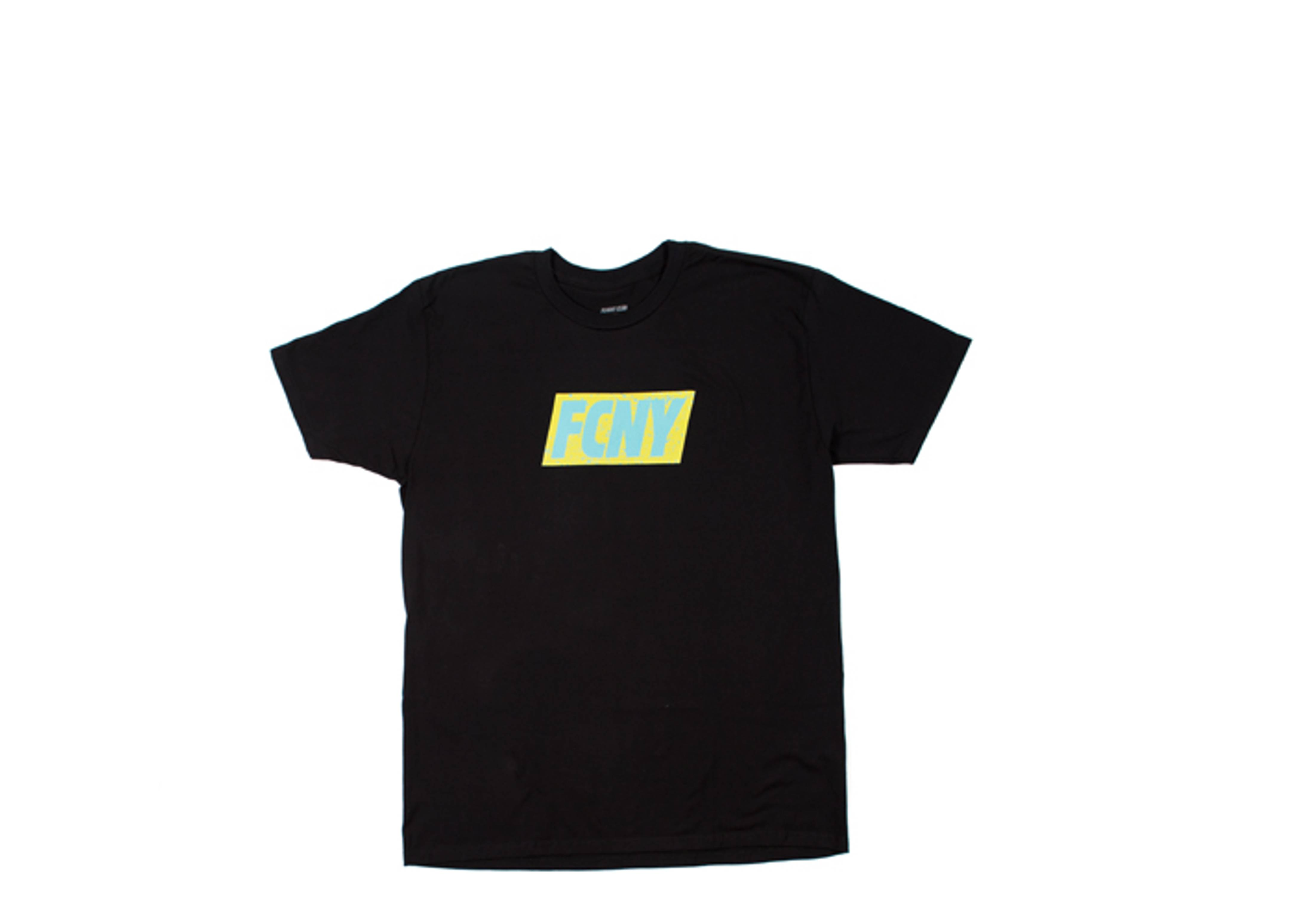 "fcny red tab day glow t-shirt ""u.s open"""