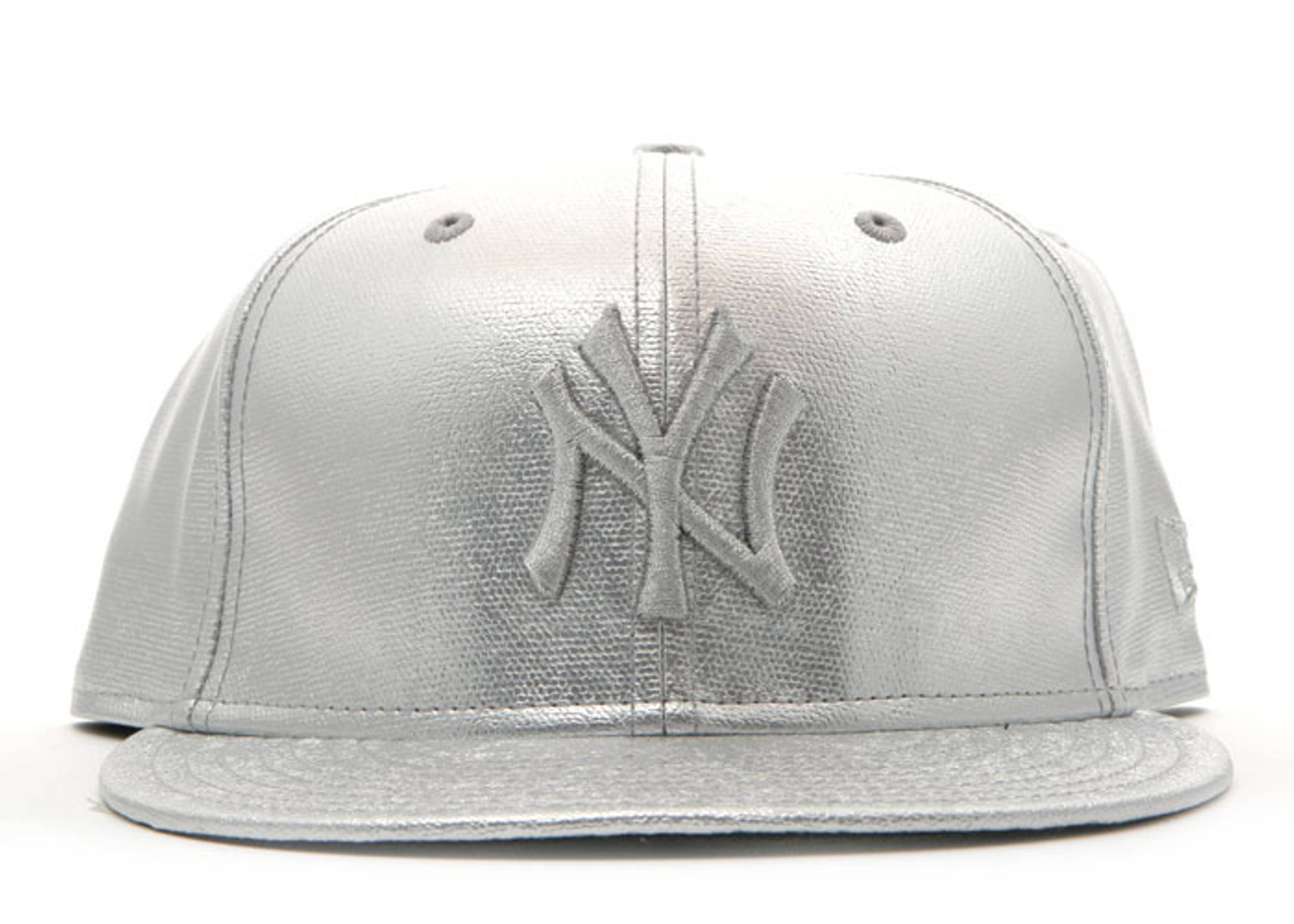 new york yankees metallic cotton fitted