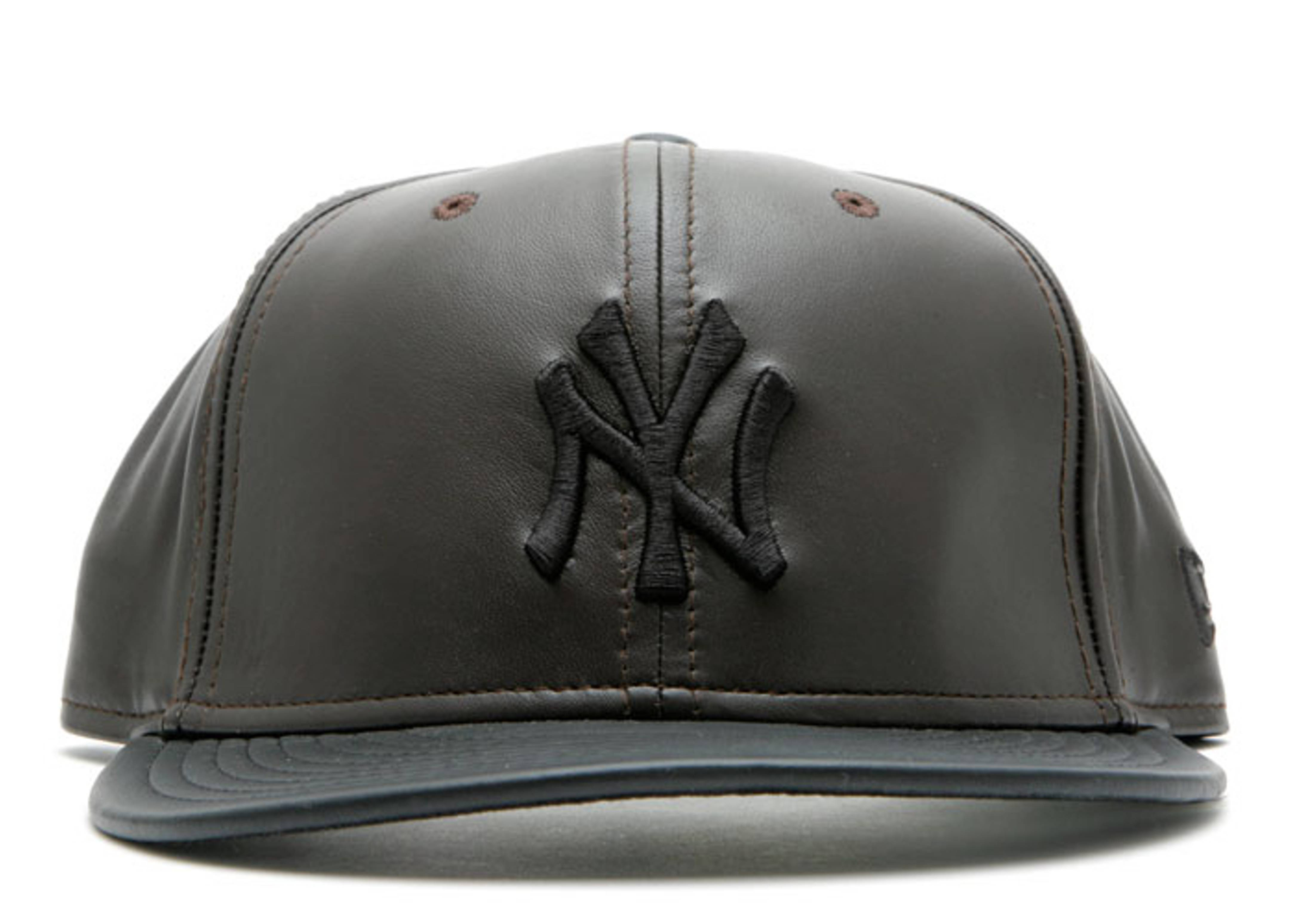 Fitted Leather Baseball Caps - Parchment N Lead b32305daf40