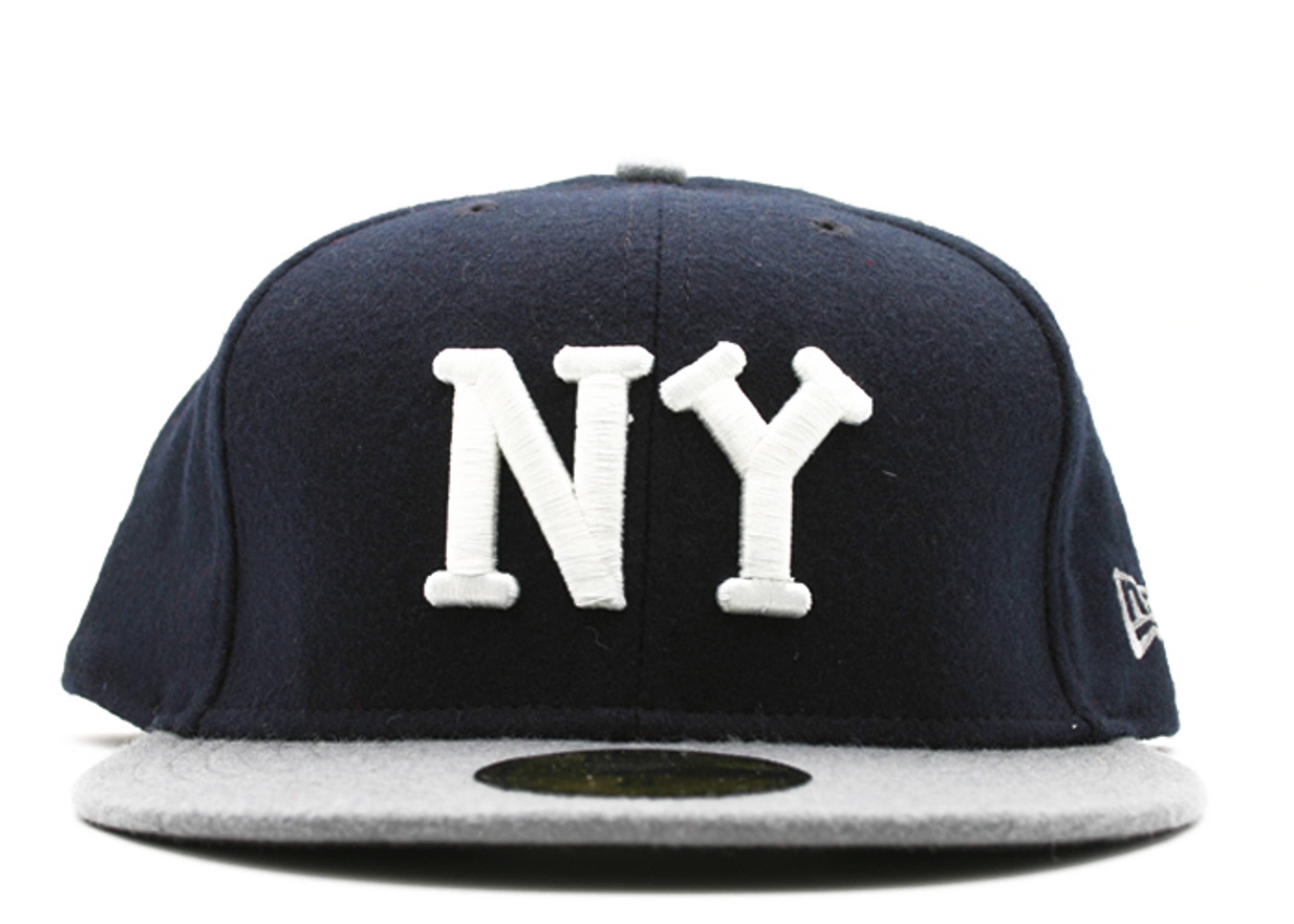 "new york black yankees fitted ""2-tone melton"""