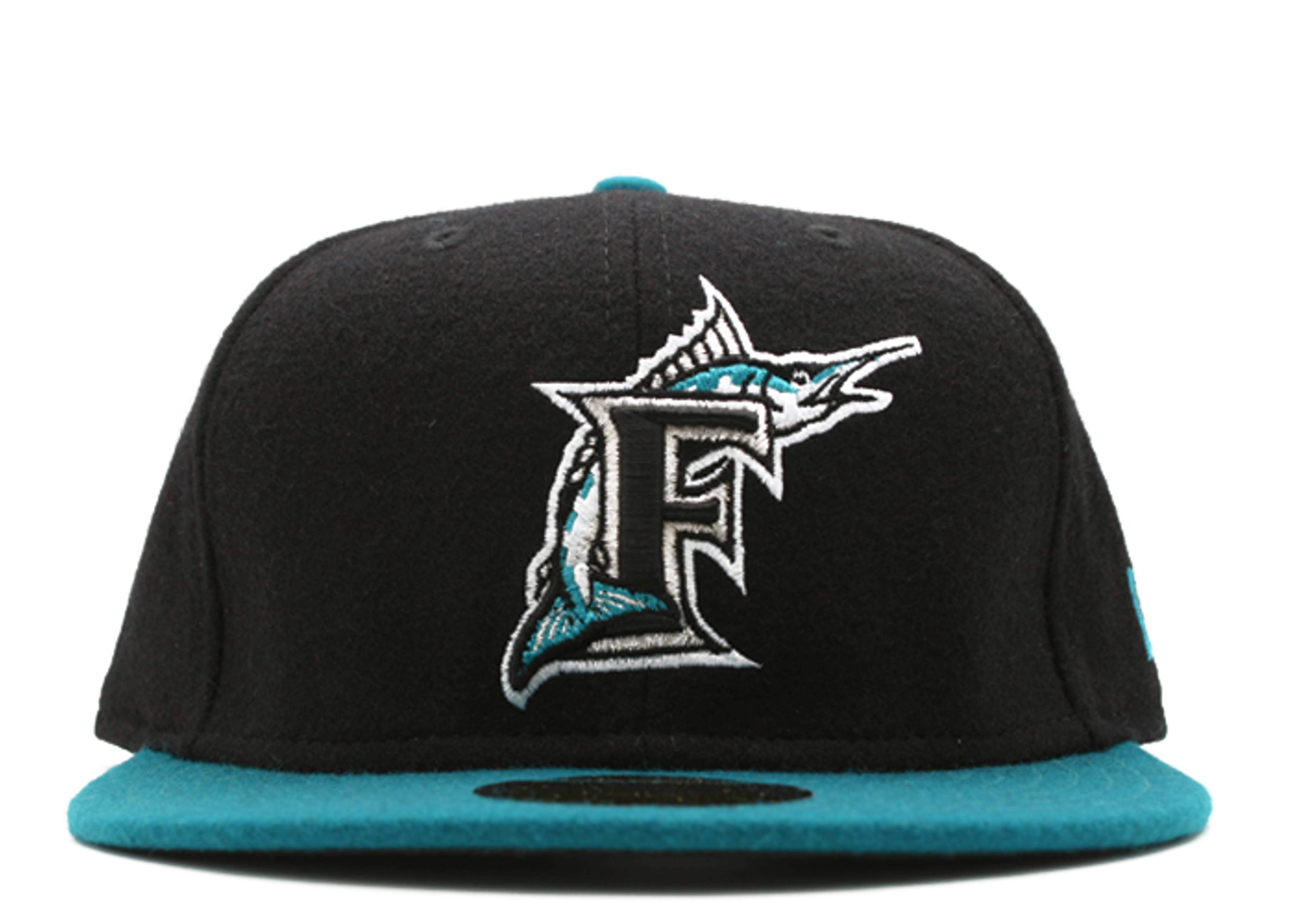 """florida marlins fitted """"2-tone melton"""""""