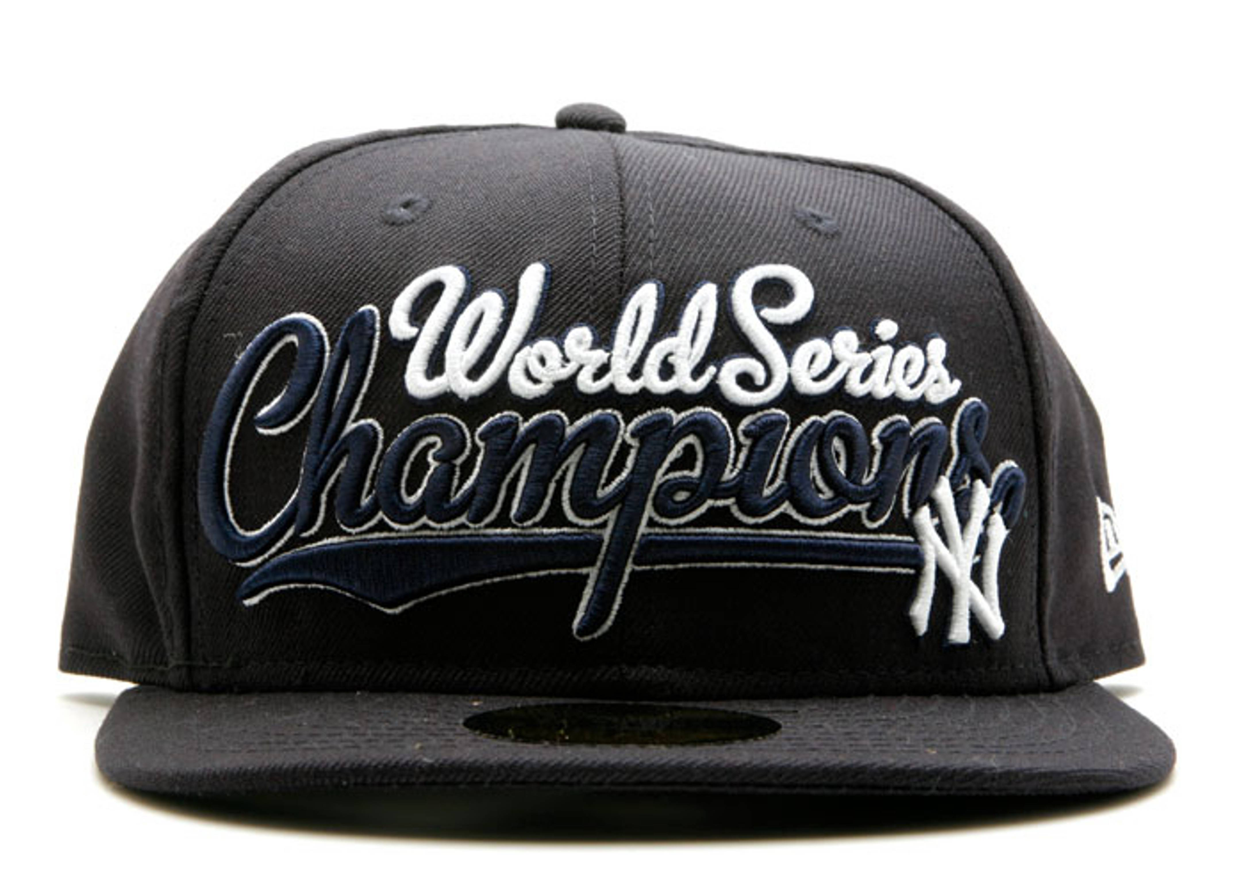 """new york yankees fitted """"championship script"""""""