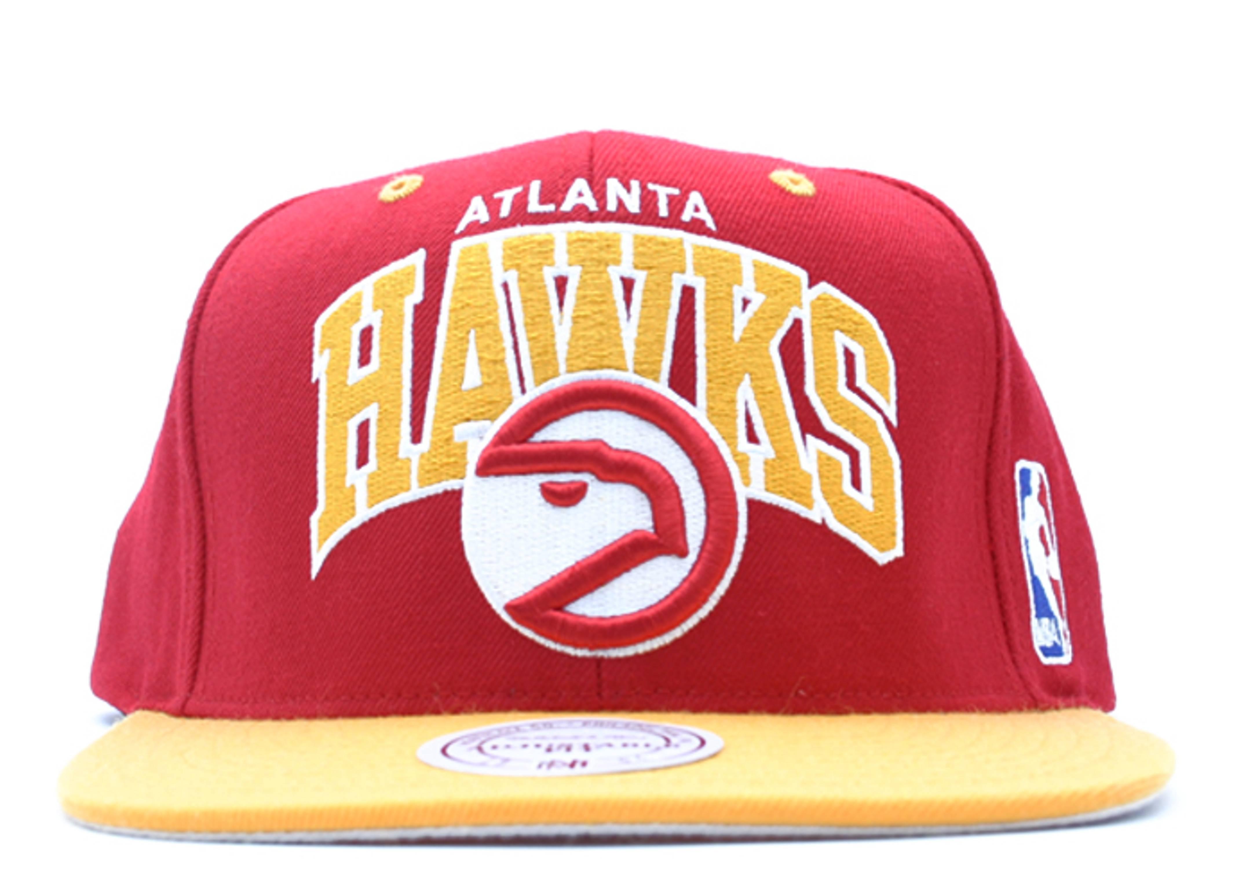 "atlanta hawks 2tone snap-back ""arch logo"""