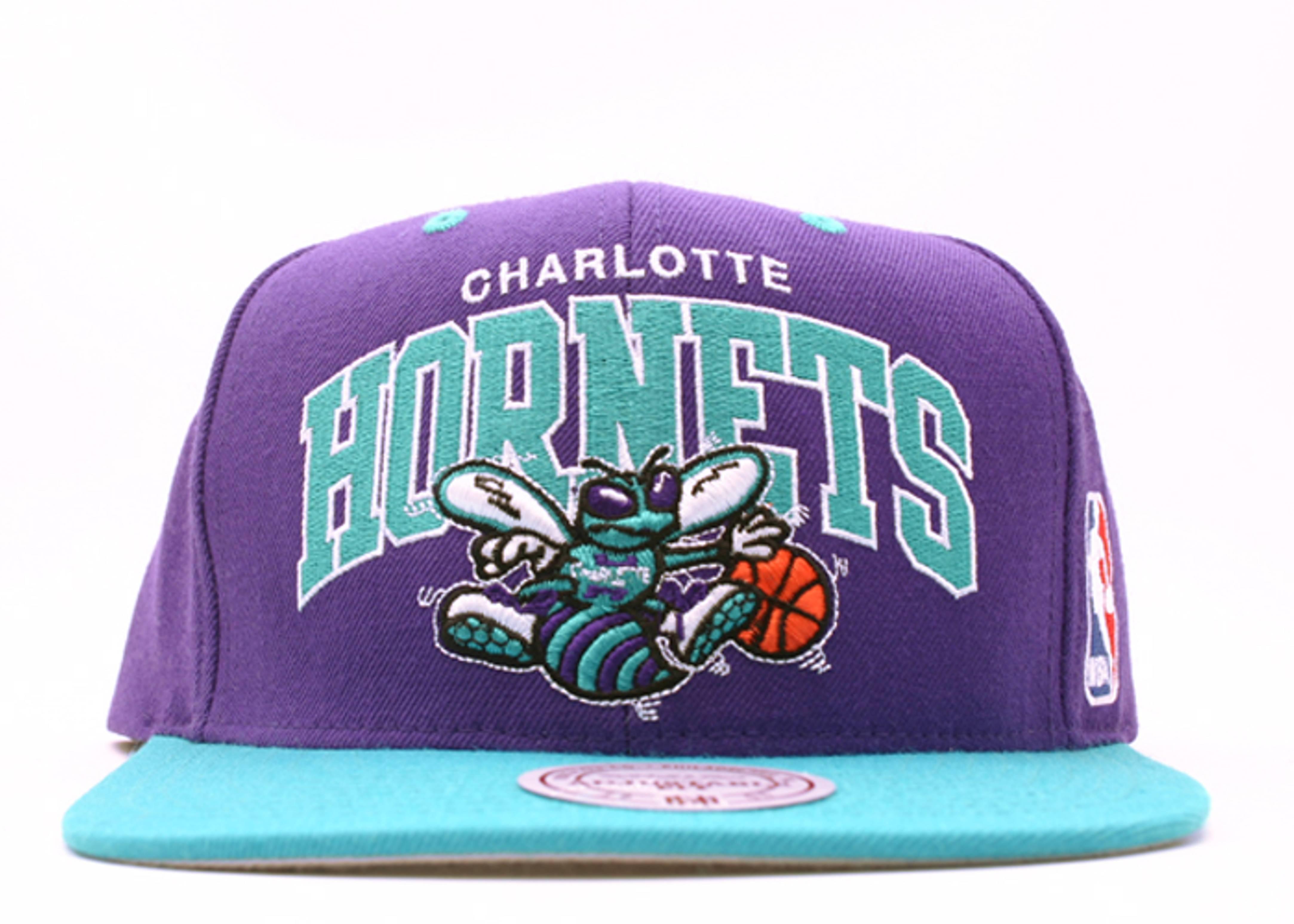 "charlotte hornets 2tone snap-back ""arch logo"""