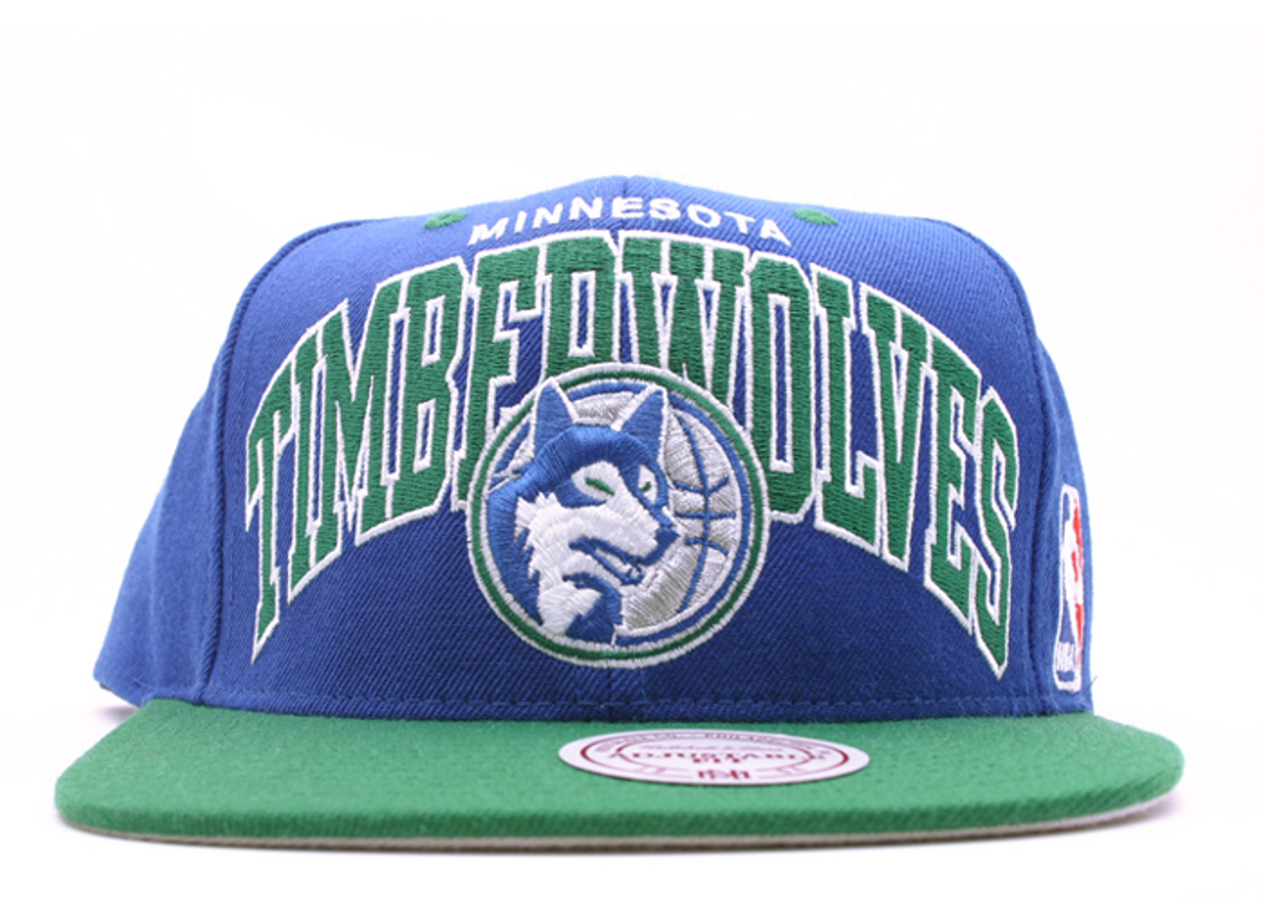 "minnesota timberwolves 2tone snap-back ""arch logo"""