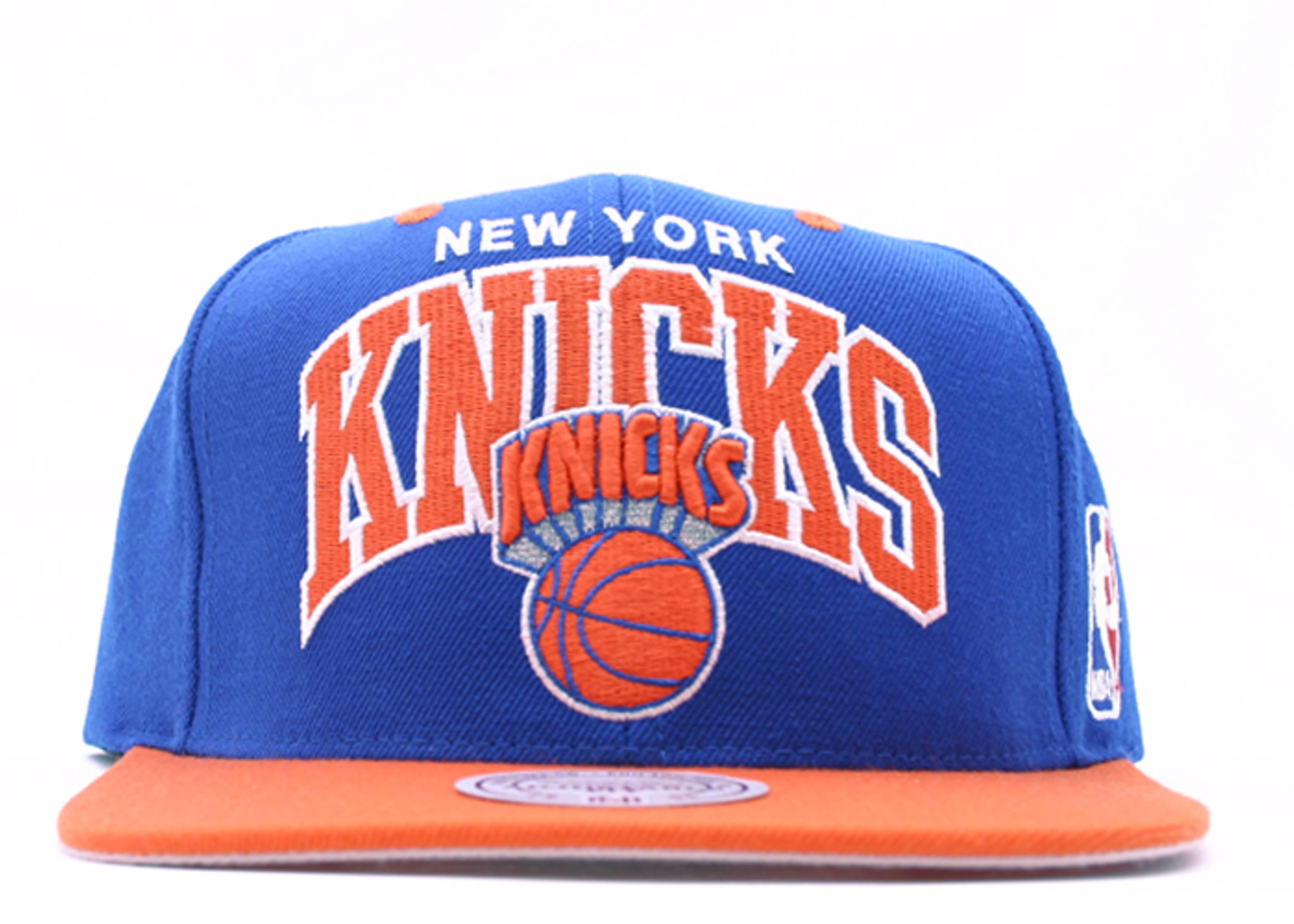 "new york knicks 2tone snap-back ""arch logo"""