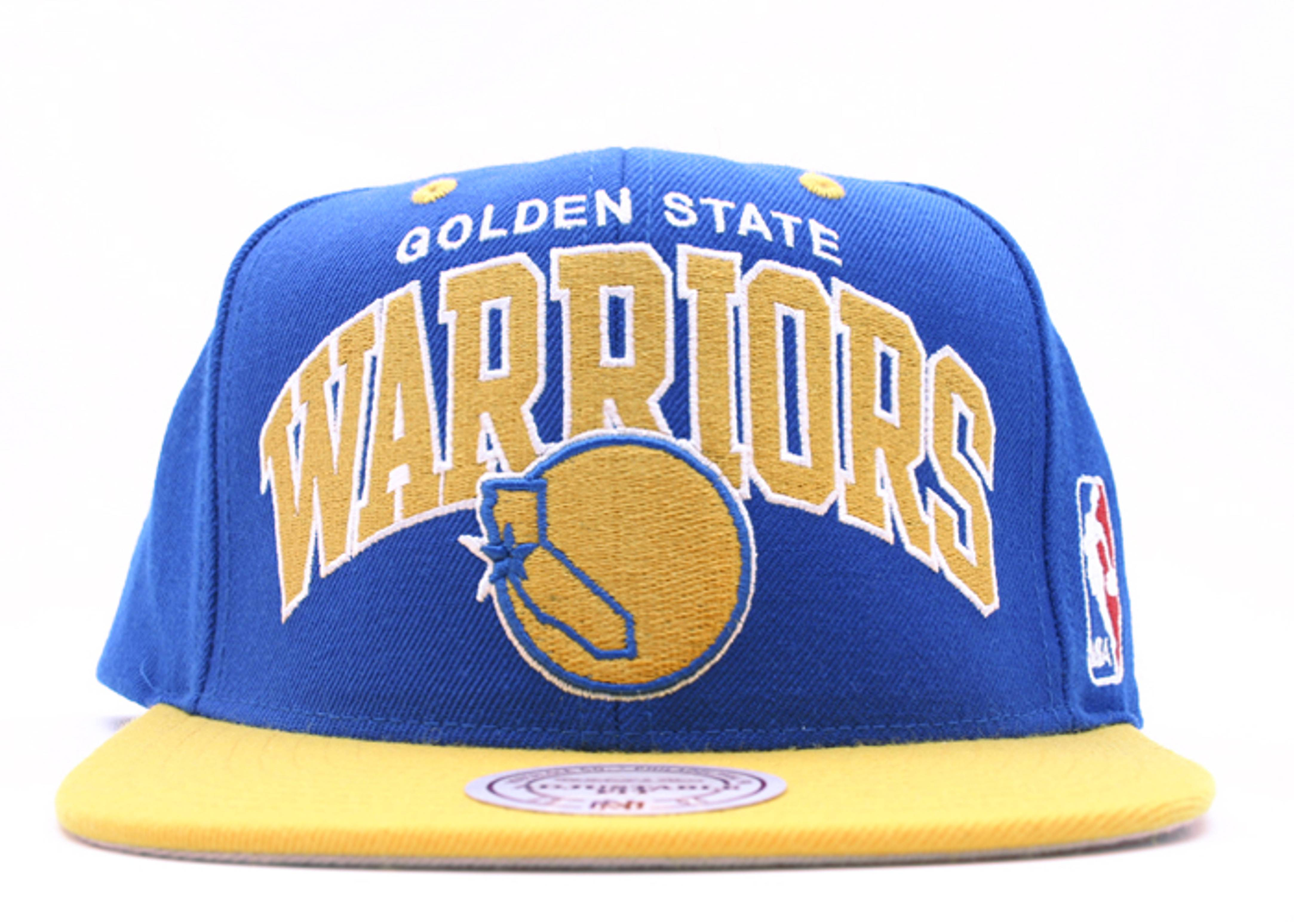"""golden state warriors 2tone snap-back """"arch logo"""""""