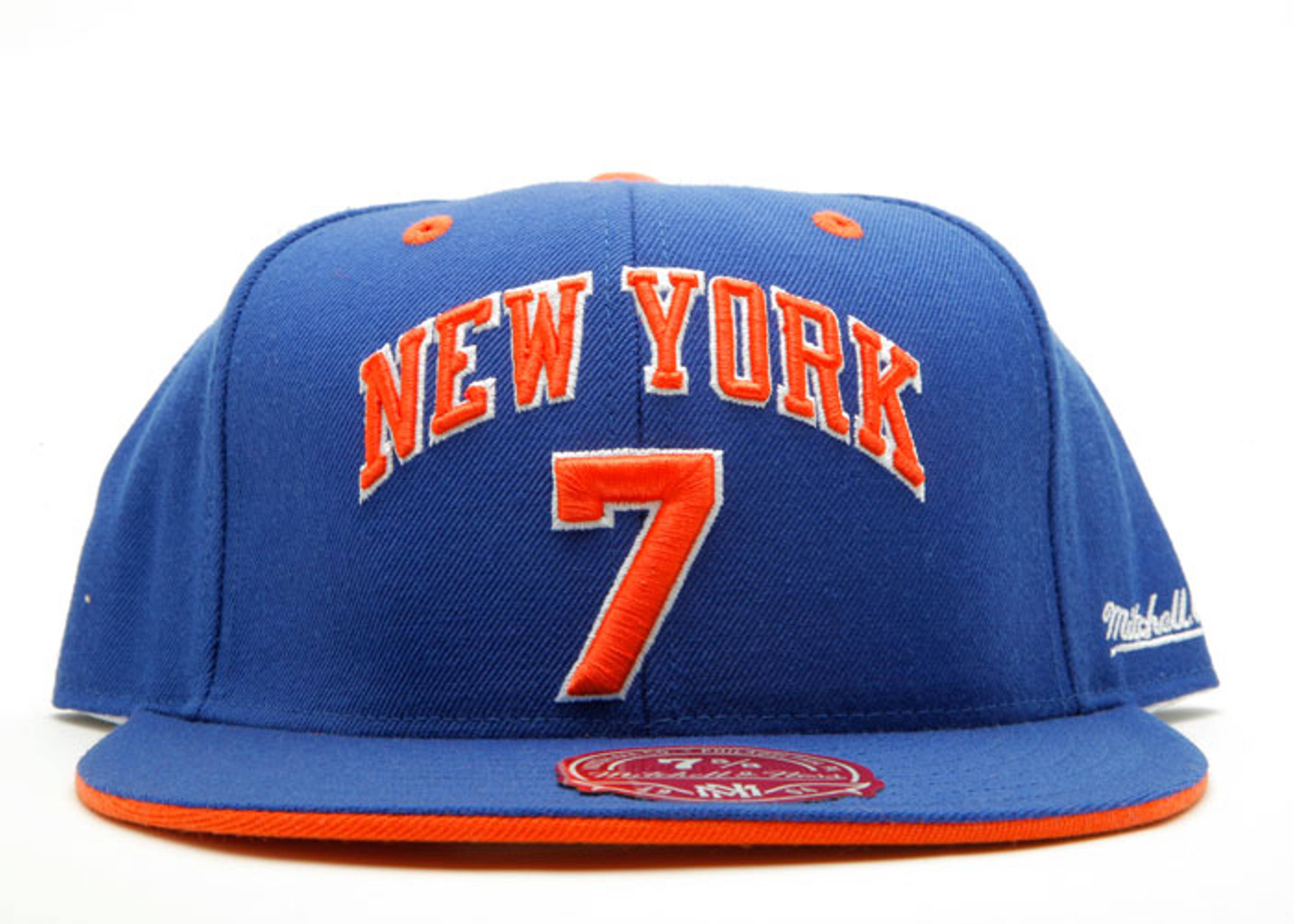 """89 dunk champ new york knicks fitted """"kenny sky walker"""""""