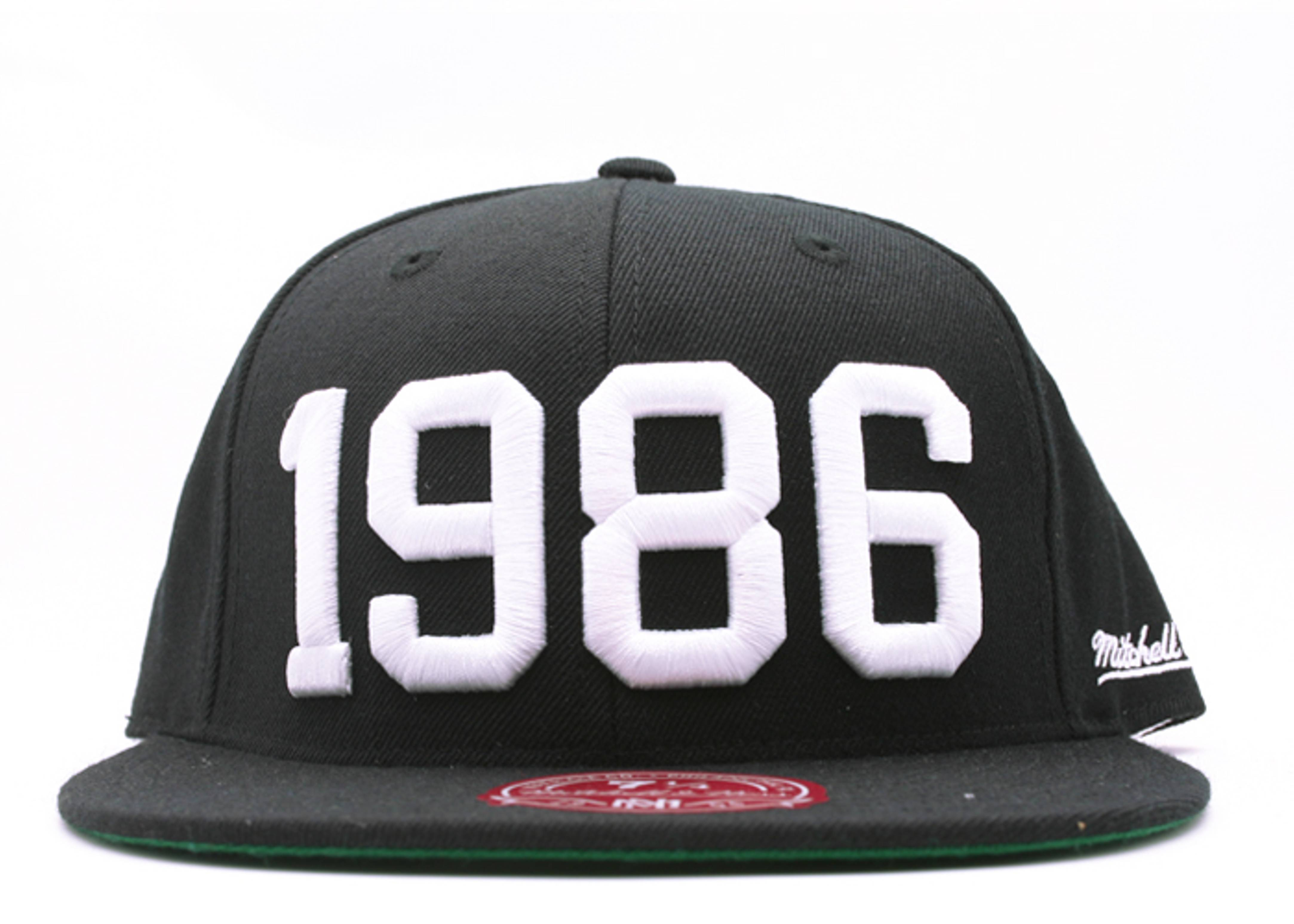 """86 nba all-star fitted """"1986"""""""