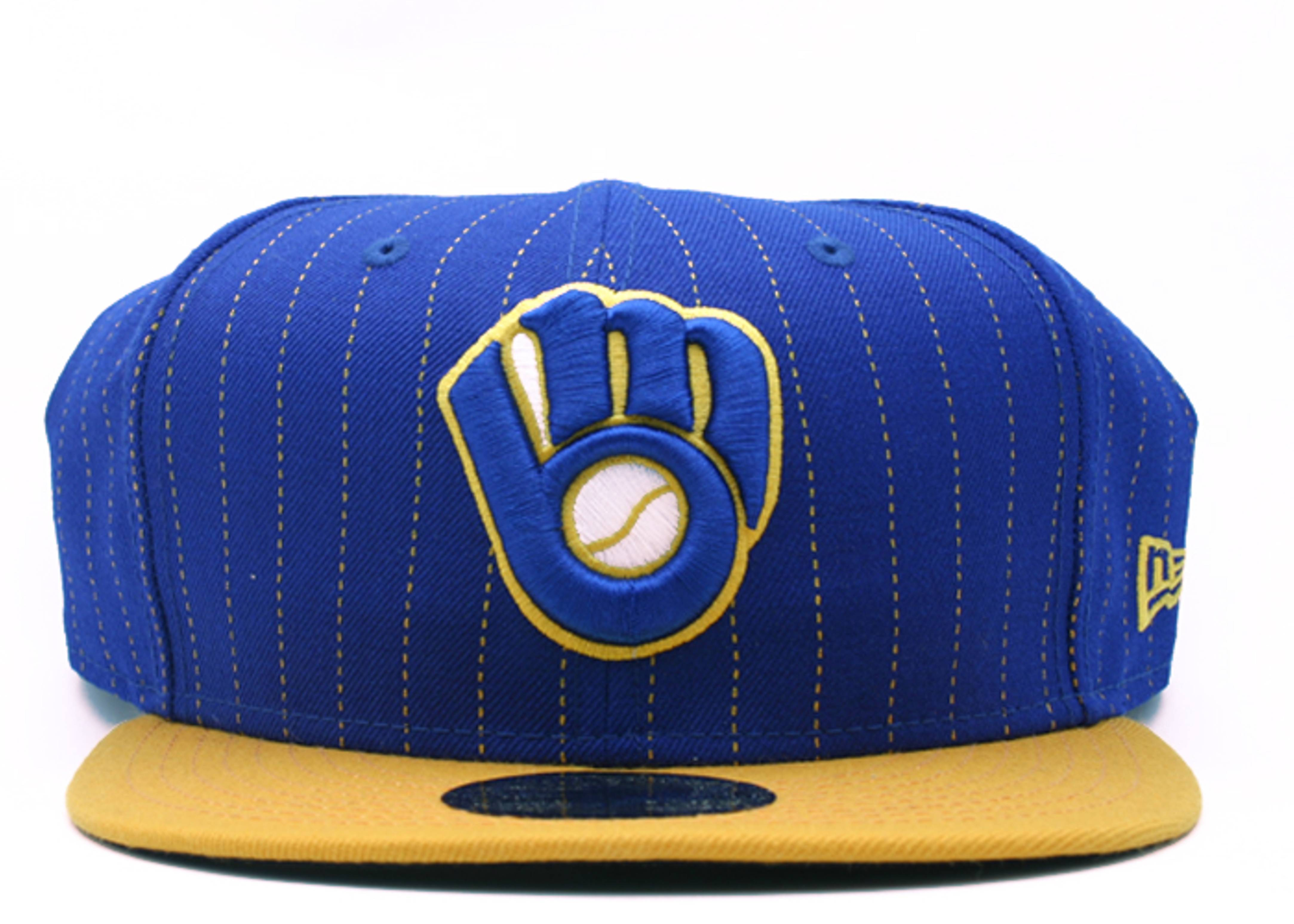 """milwaukee brewers fitted """"stripe"""""""