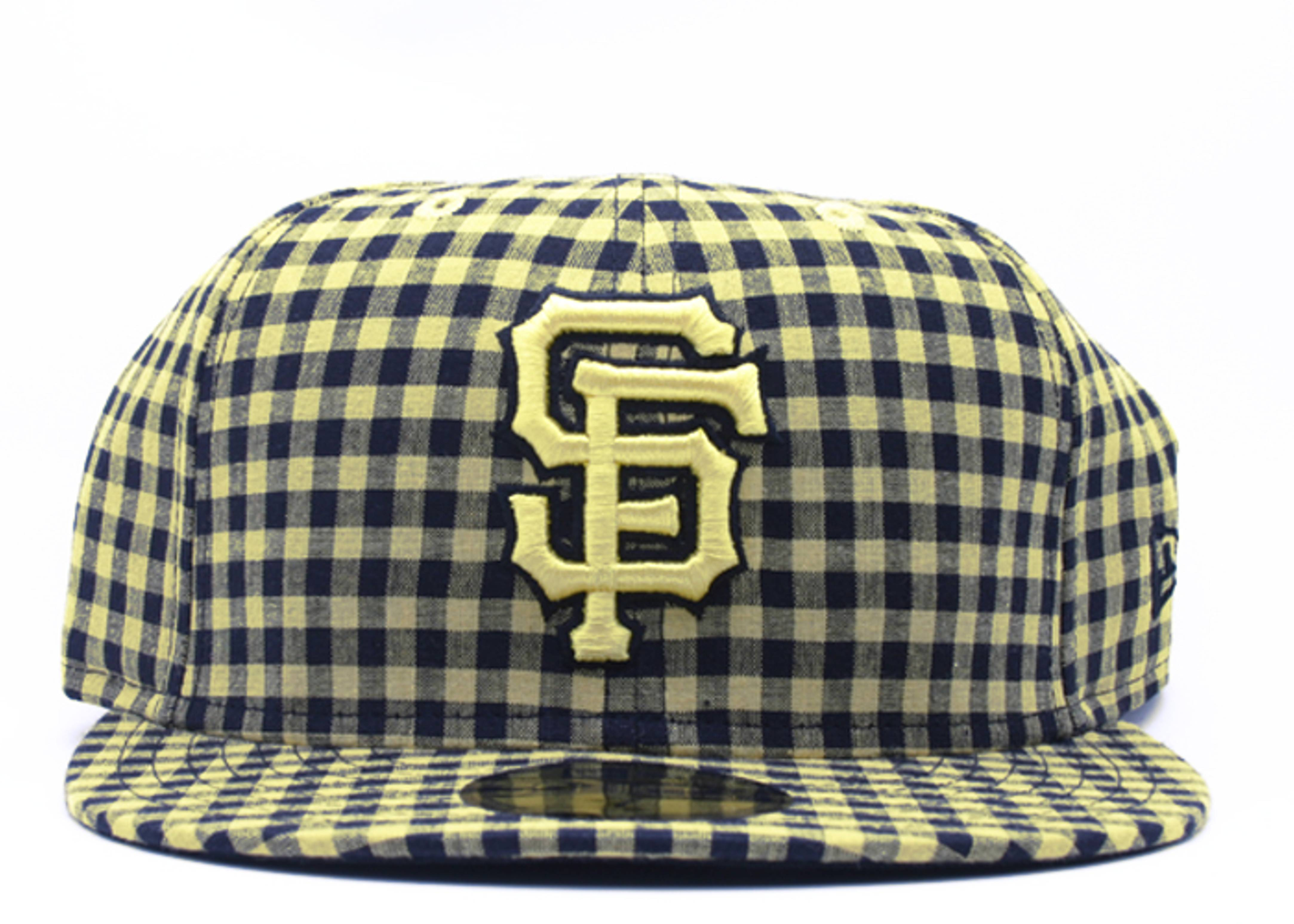 """san francisco giants fitted """"buffalo gingham"""""""