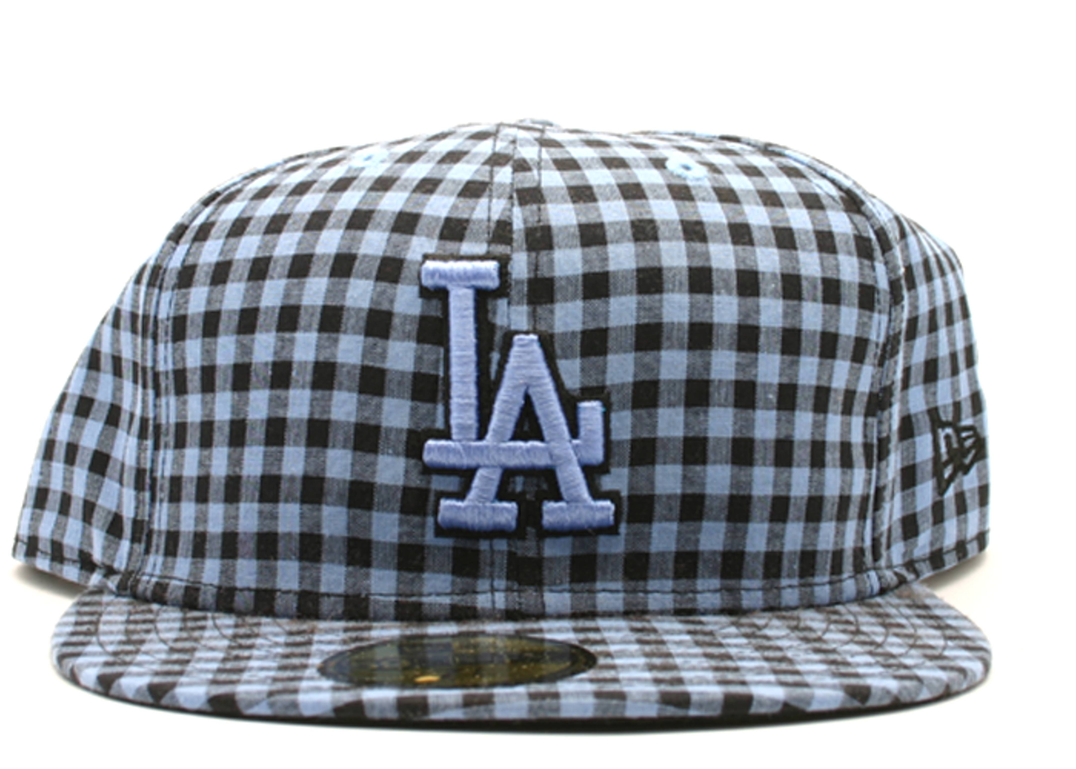 "los angeles dodgers fitted ""buffalo gingham"""
