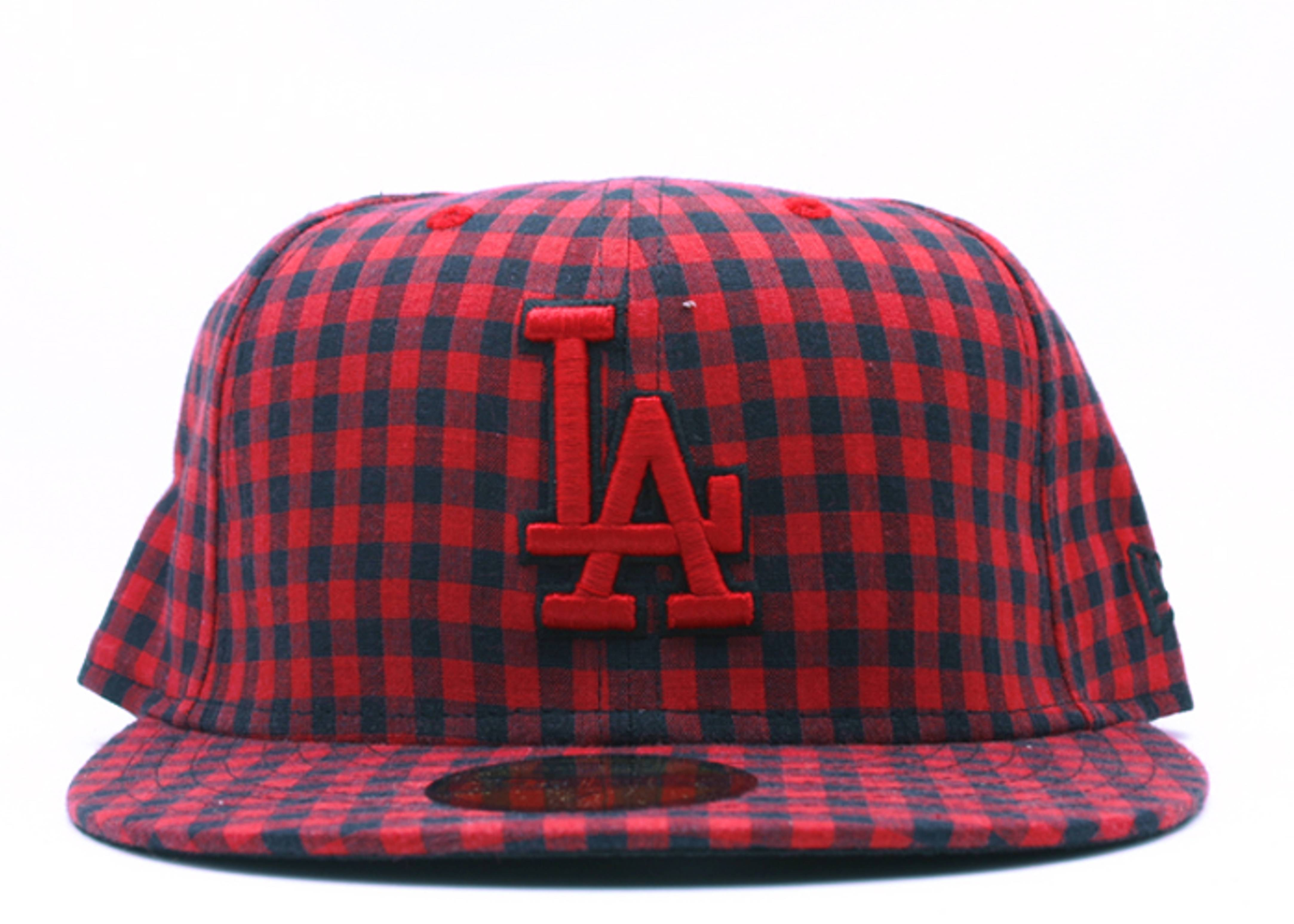 """los angeles dodgers fitted """"buffalo gingham"""""""