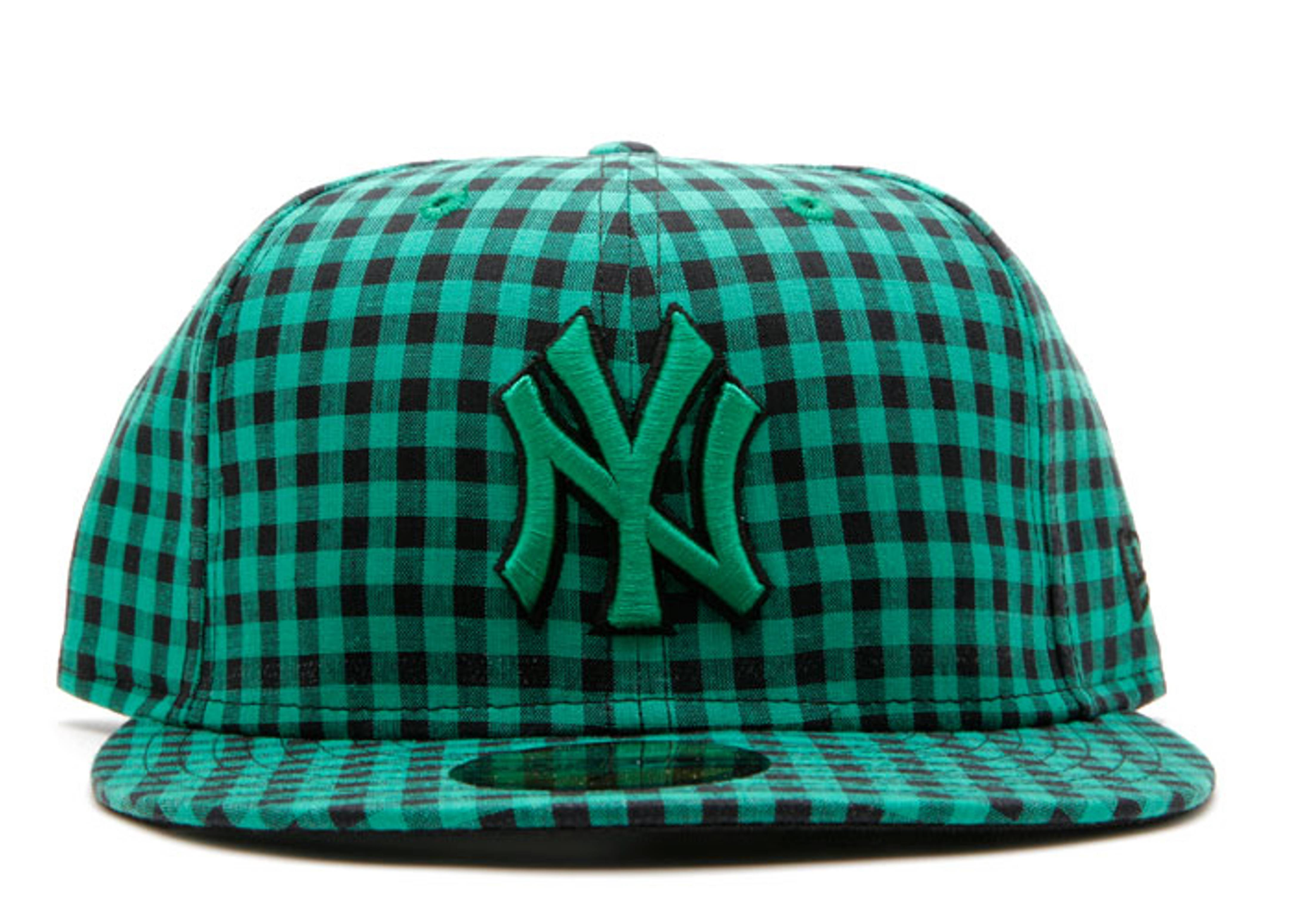 "new york yankees fitted ""buffalo gingham"""