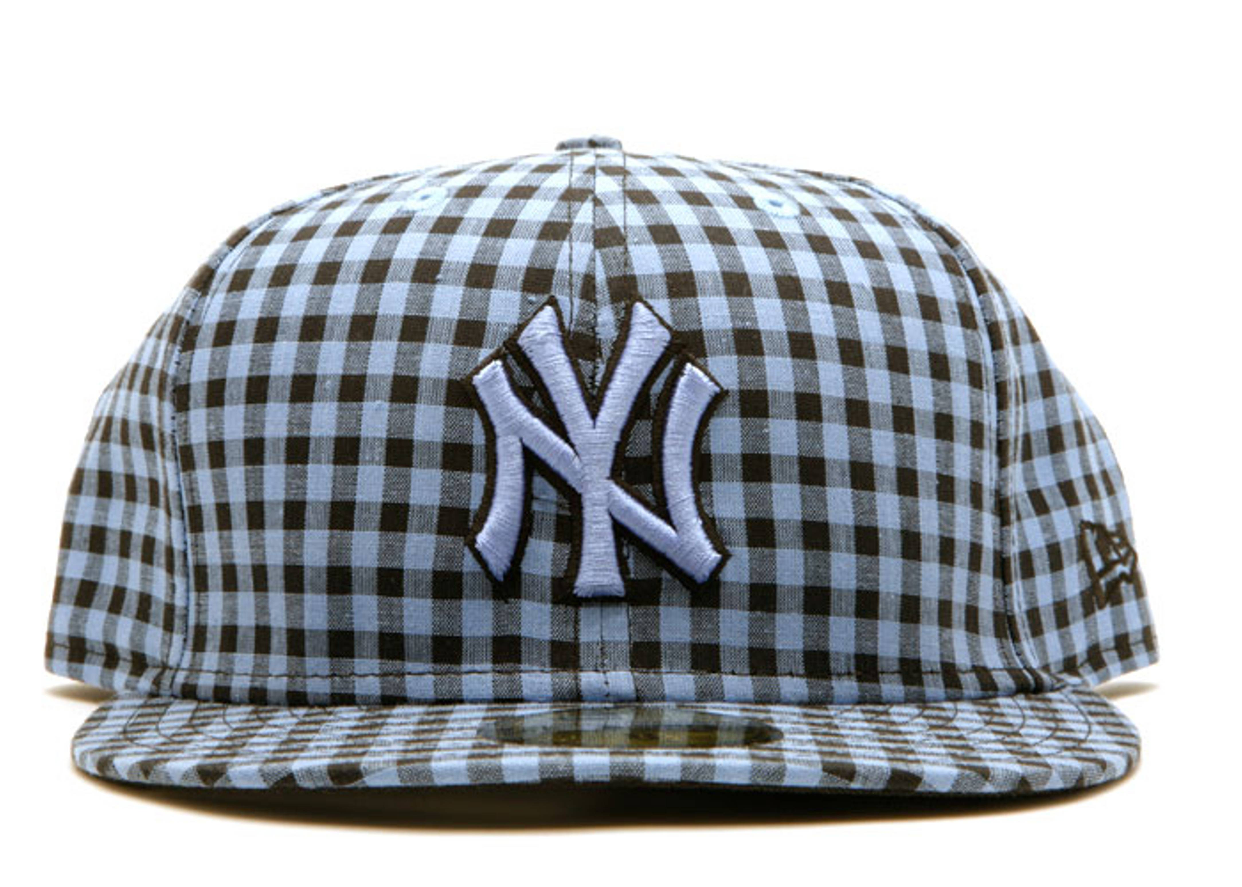"""new york yankees fitted """"buffalo gingham"""""""