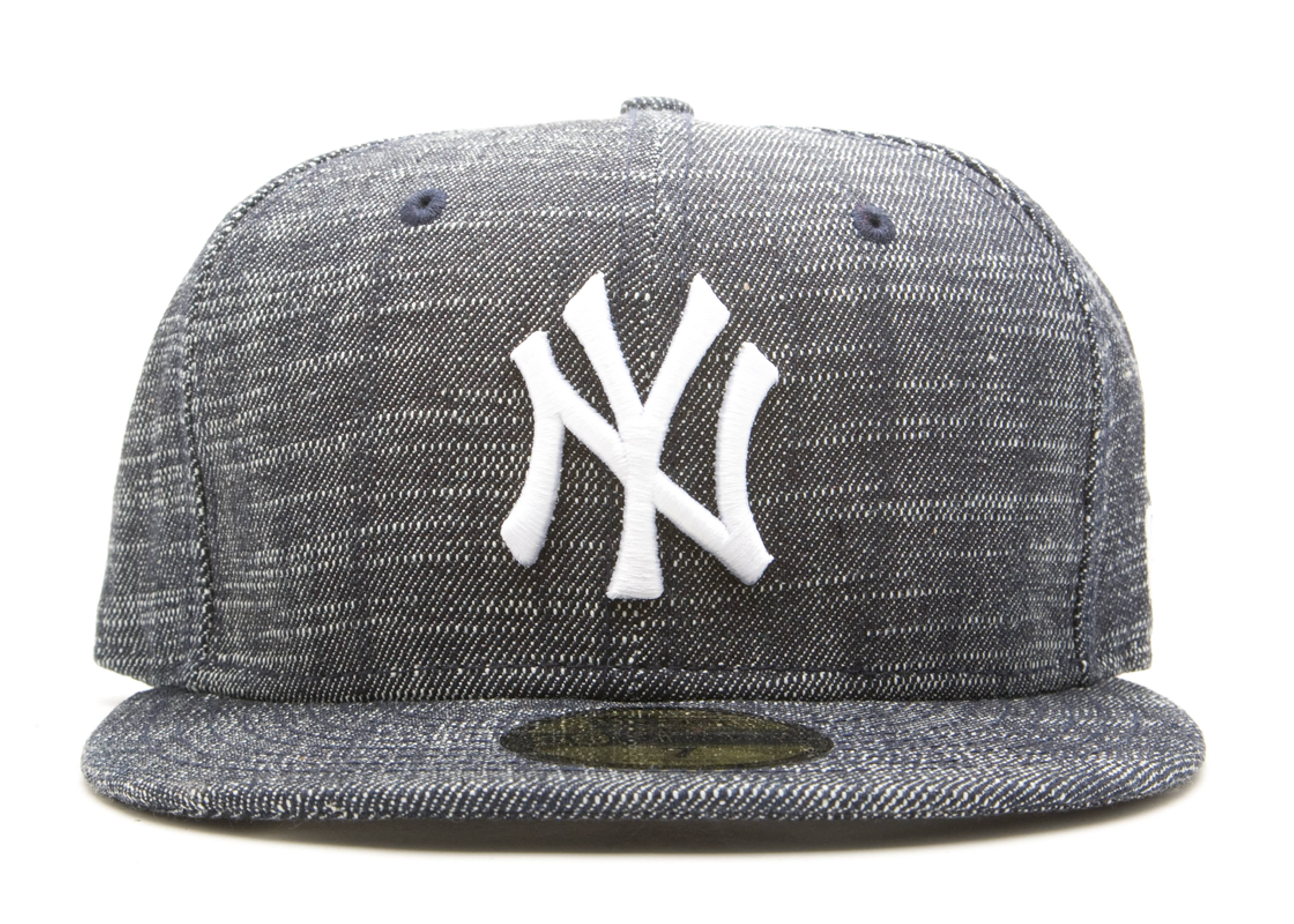 "new york yankees fitted ""raw denim"""