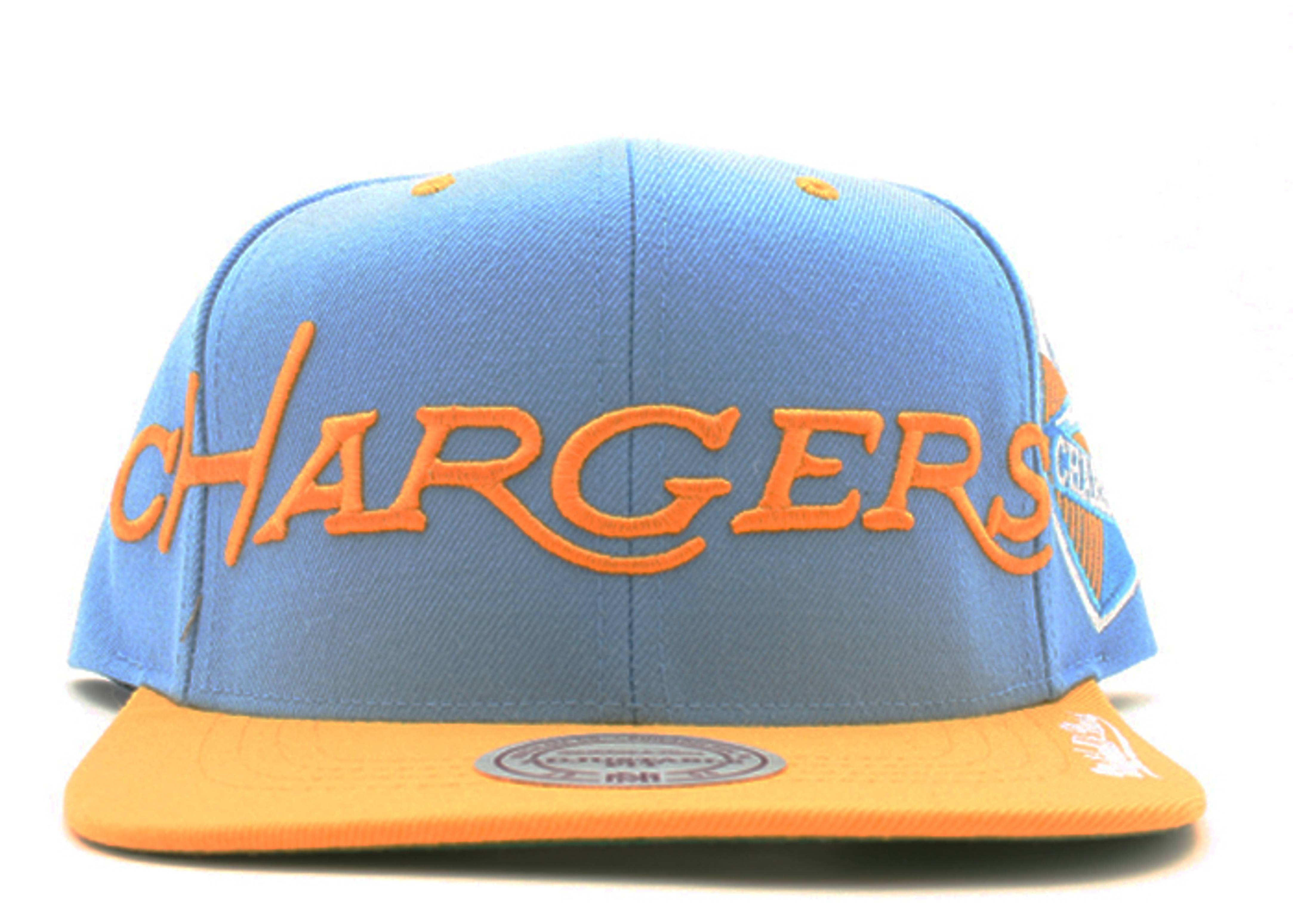 """san diego chargers 2tone snap-back """"spellout"""""""