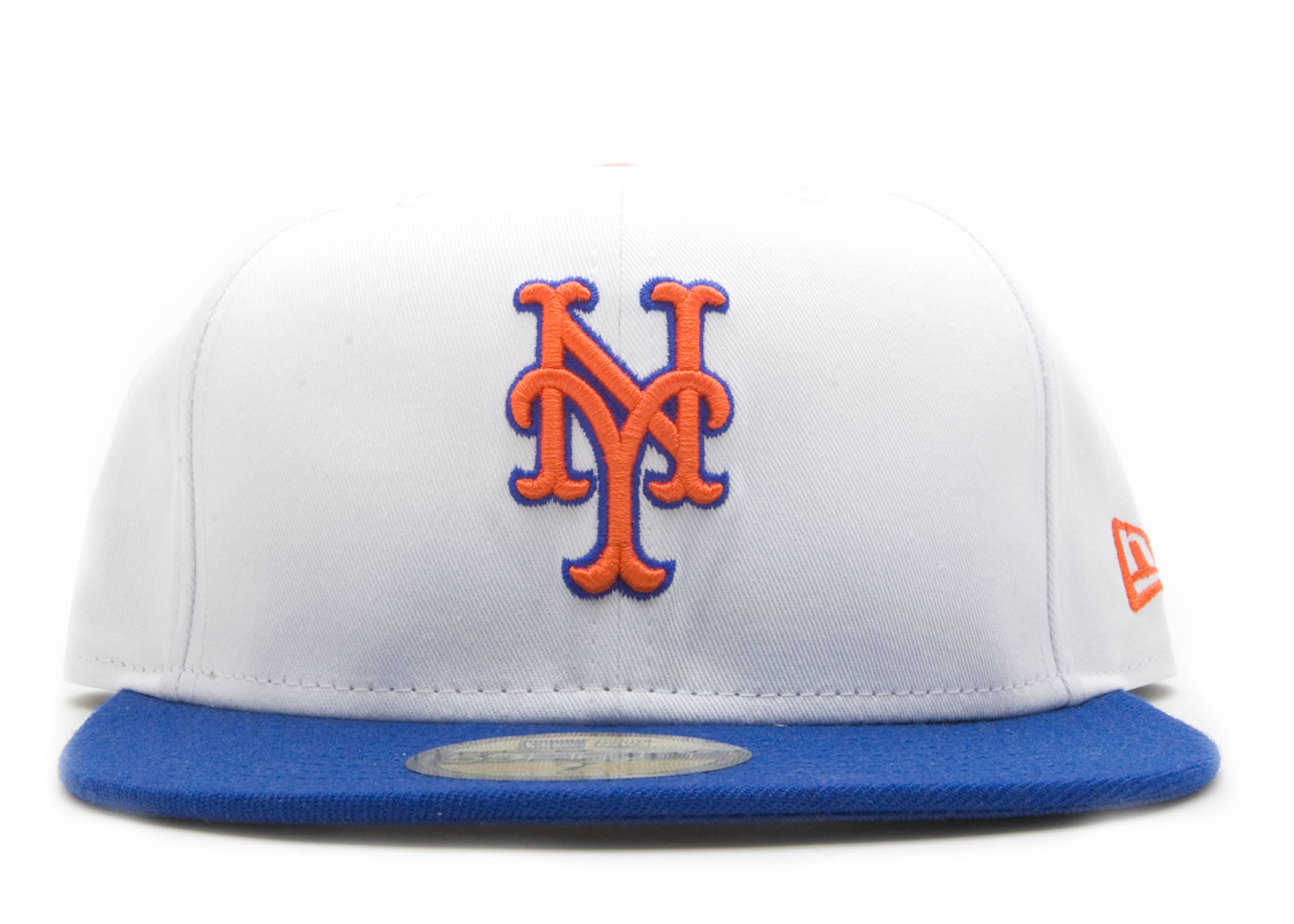 "new york mets stencil fitted ""mr. met"""