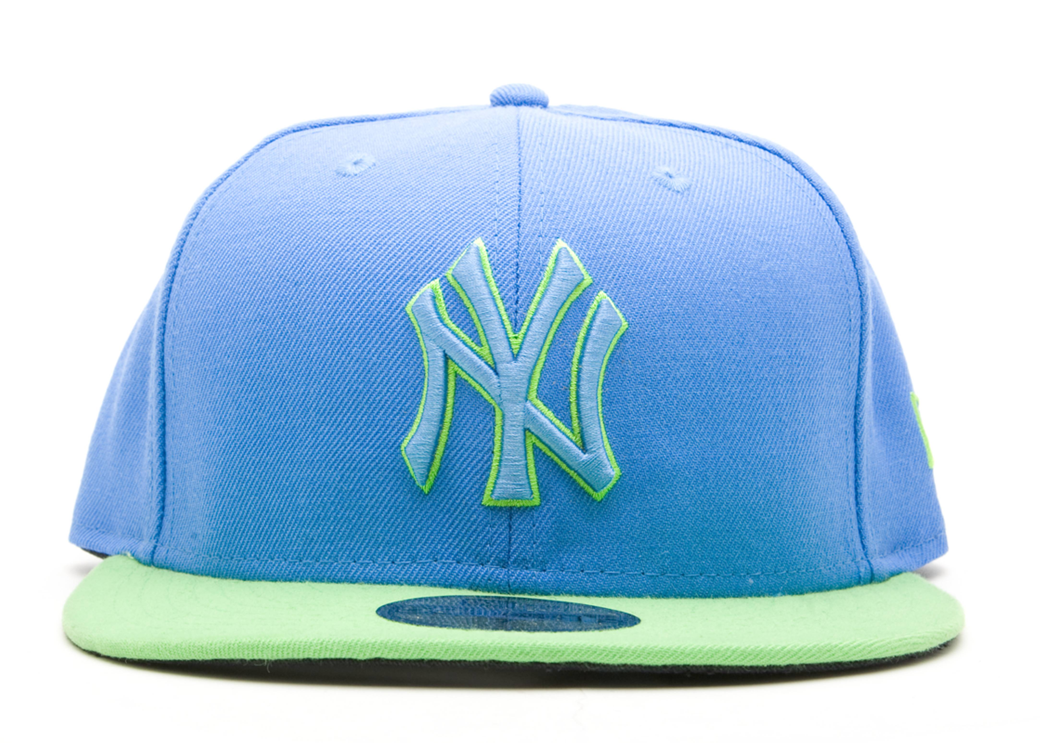 7cbce7fa129 New York Yankees Fitted - New Era - 10179373 - air force blue lime ...