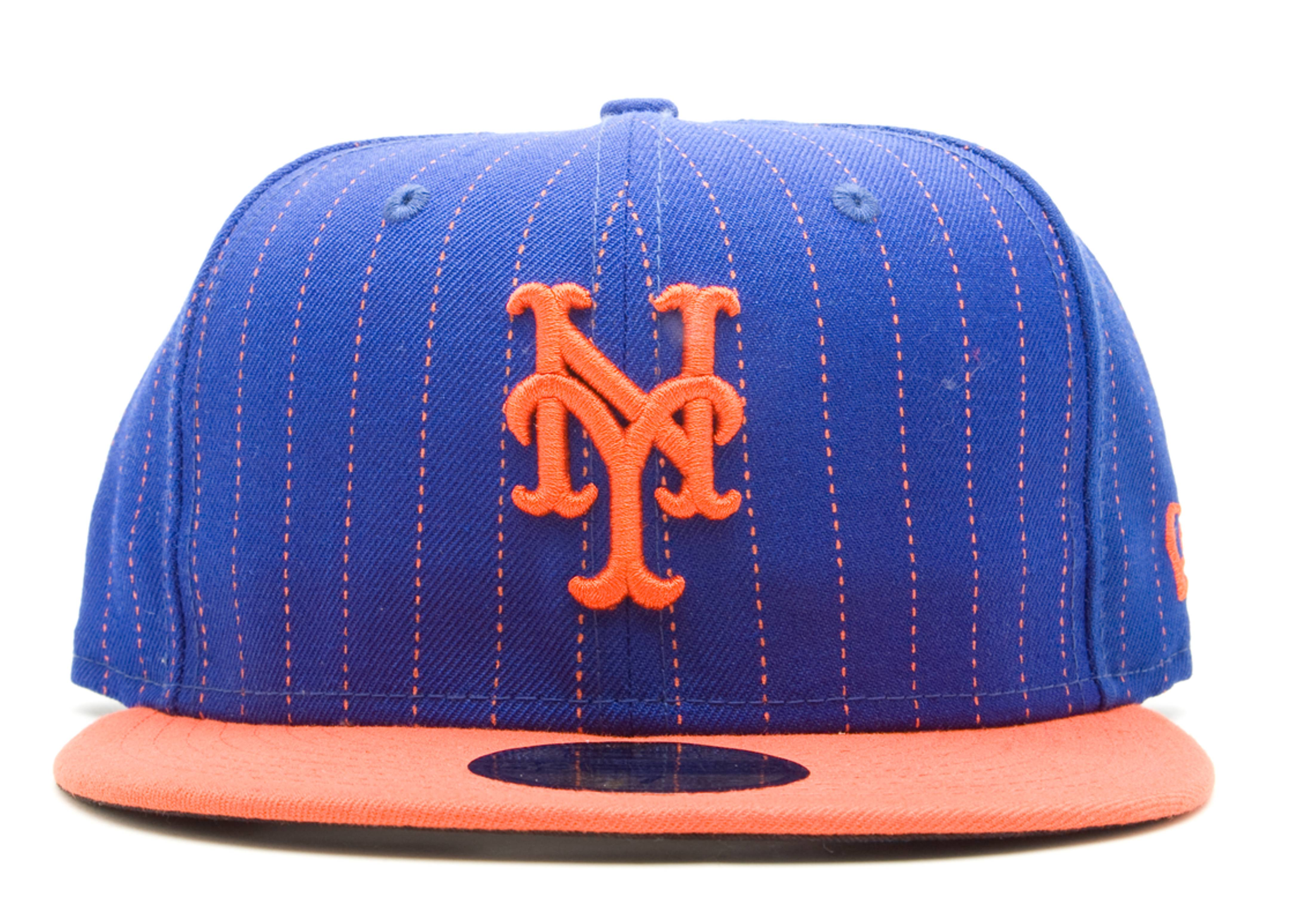 new york mets strips fitted