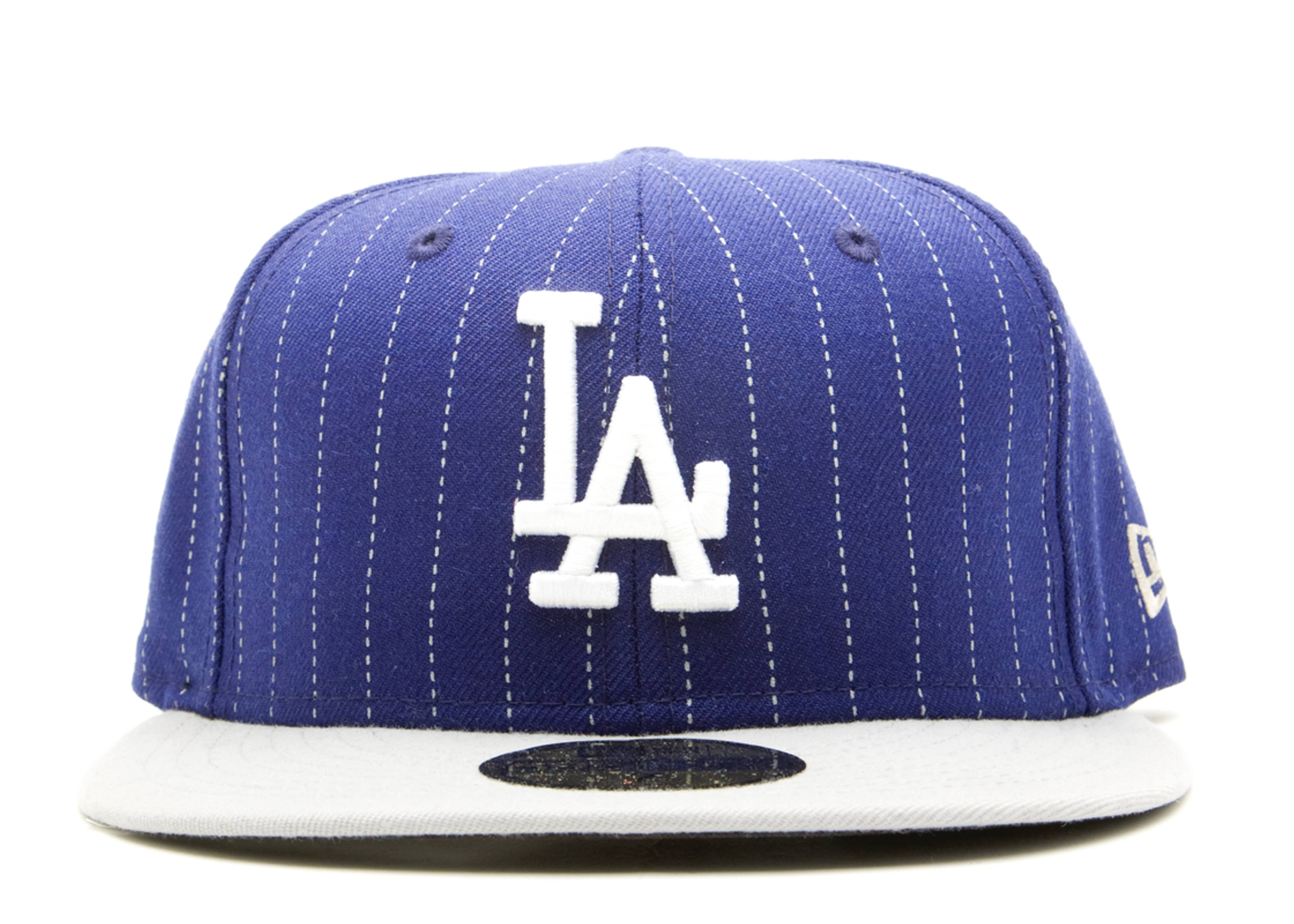 los angeles dodgers stripe fitted