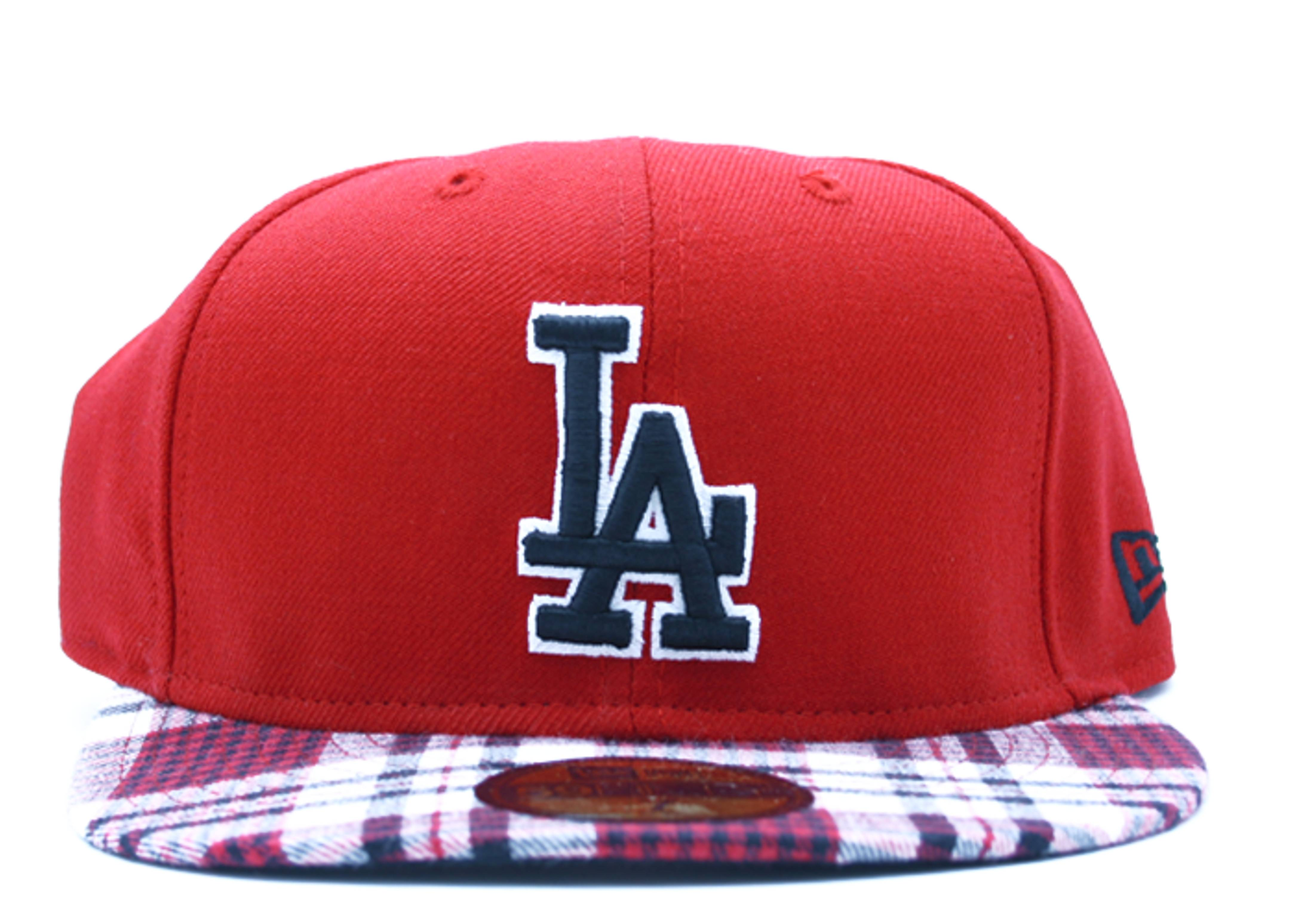 """los angeles dodgers fitted """"plaid"""""""