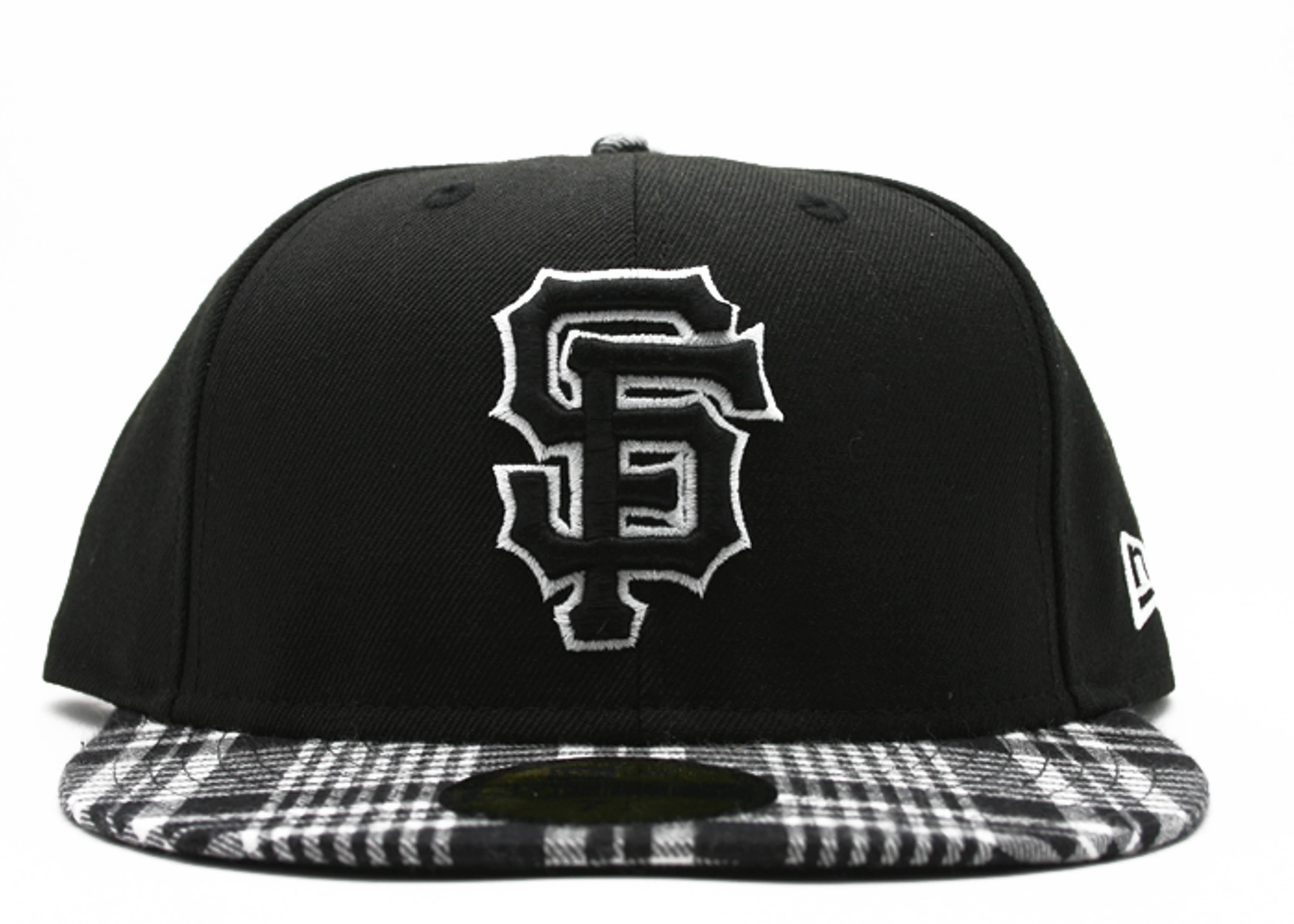 "san francisco giants fitted ""plaid"""