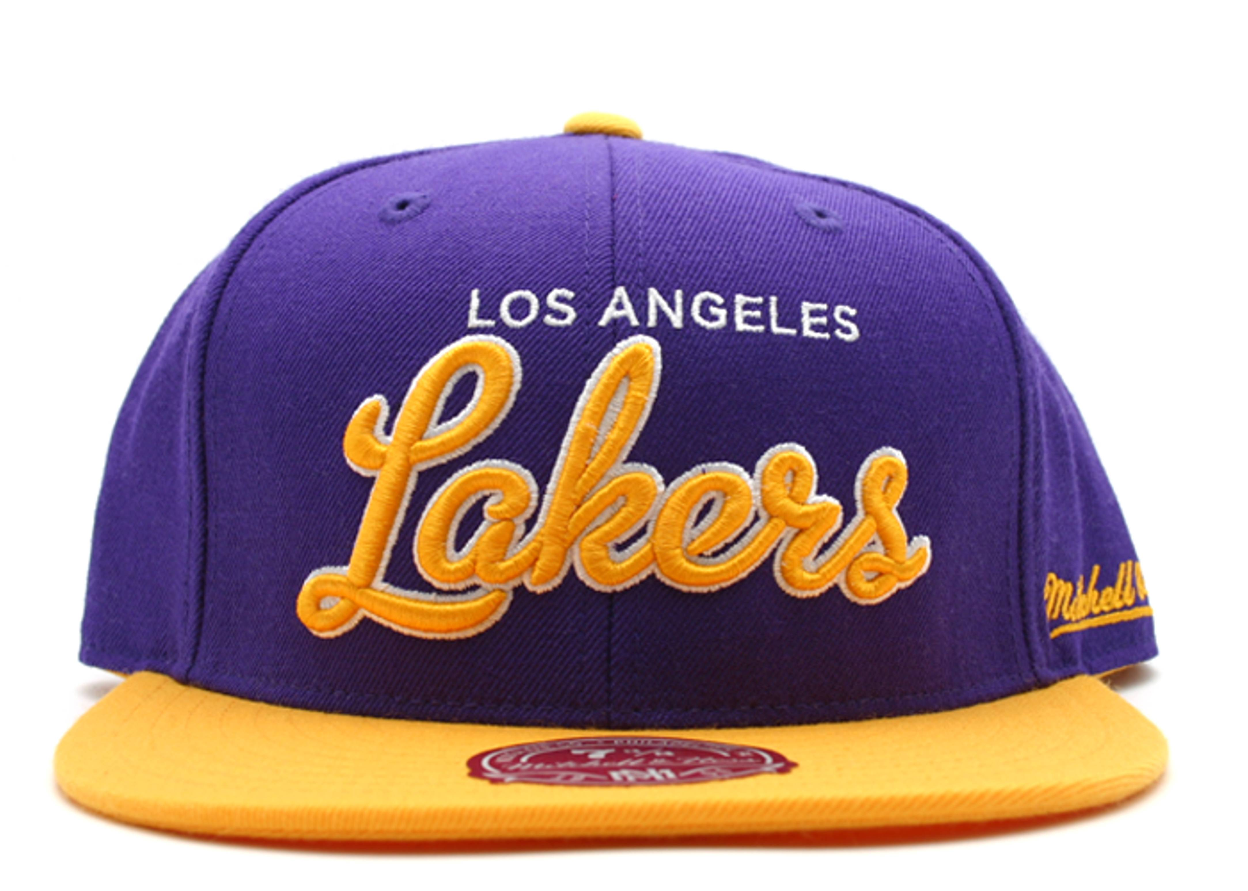 """los angeles lakers fitted """"script"""""""