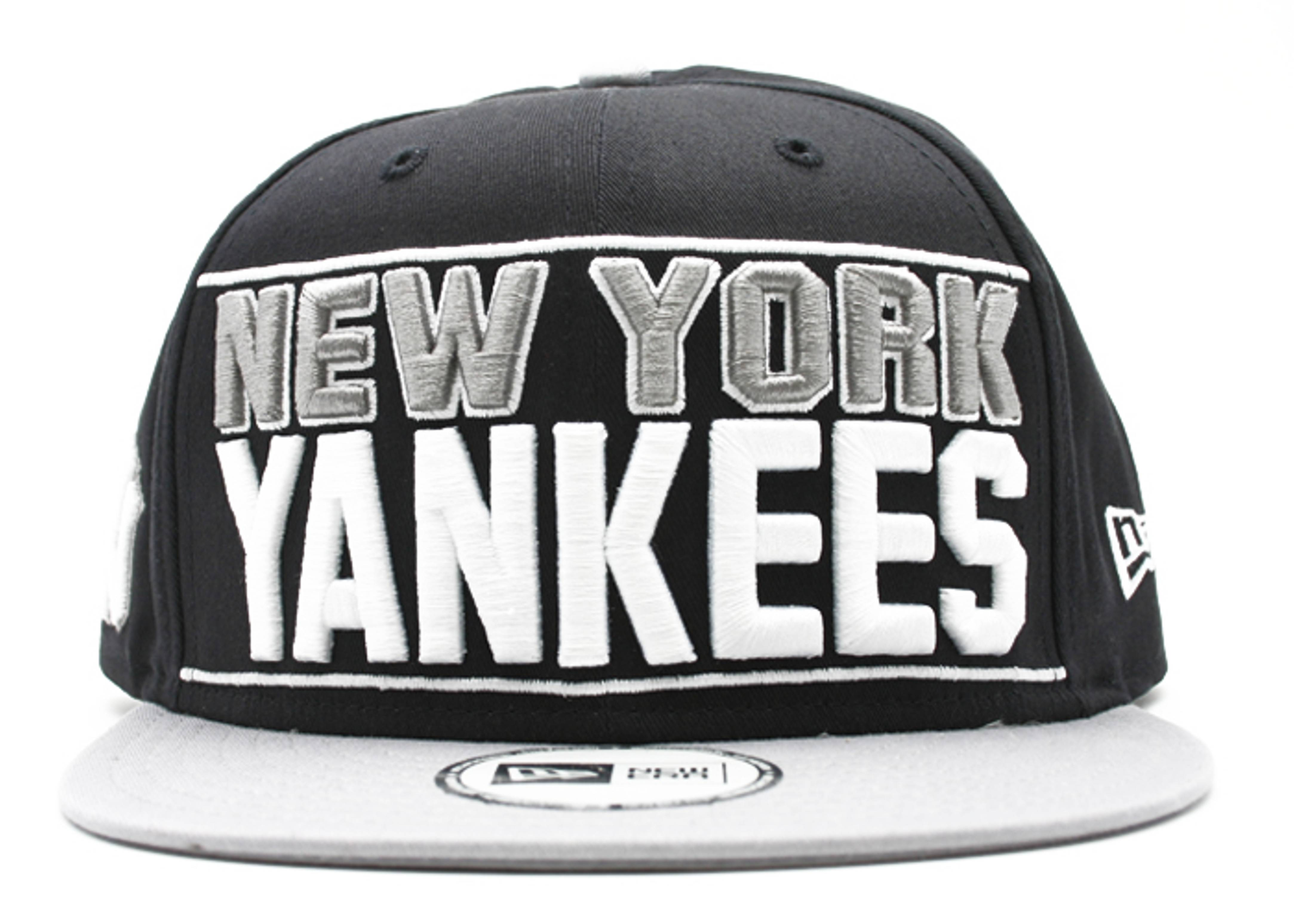 "new york yankees snap-back ""big bold print"""