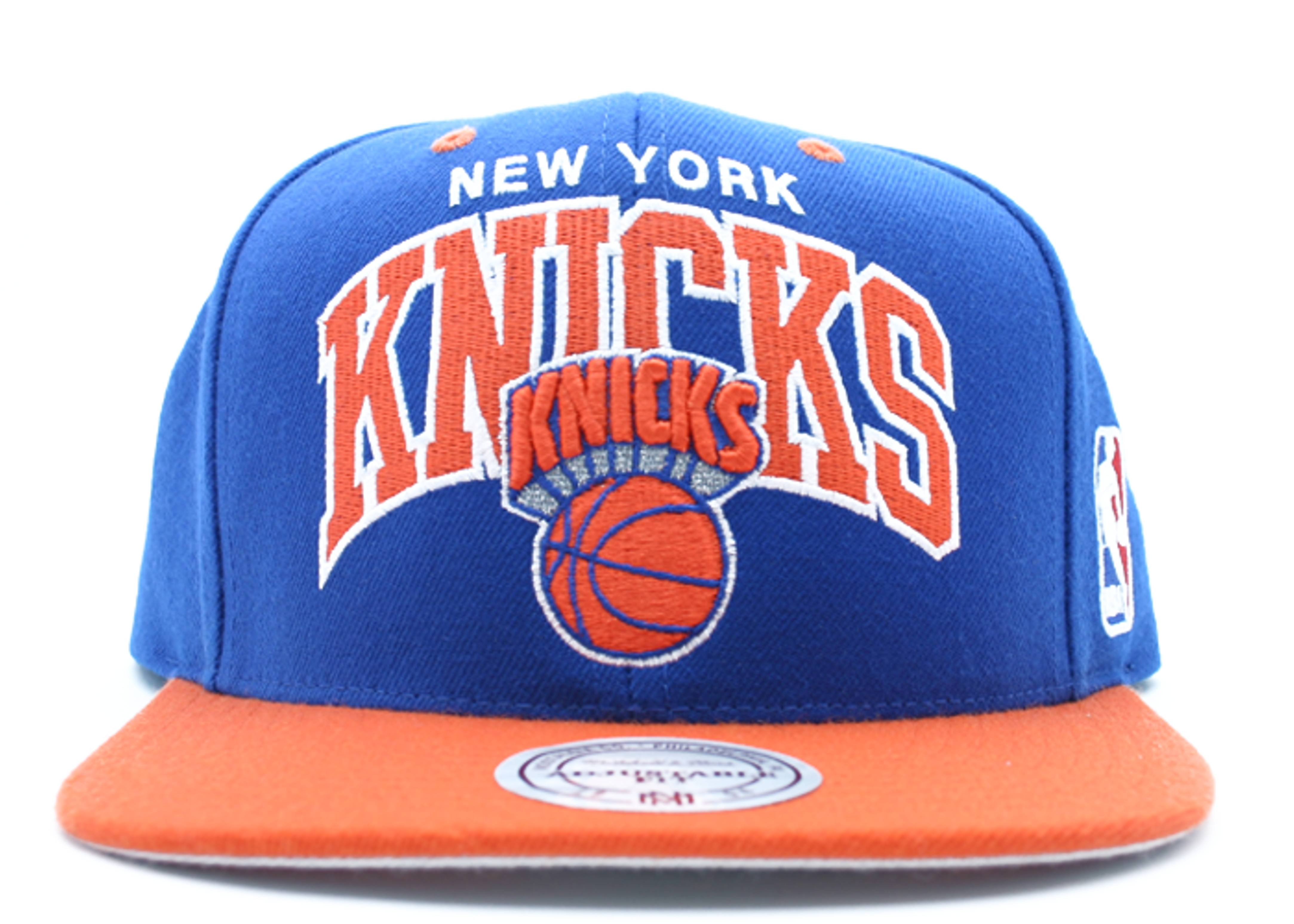 "new york knicks 2tone snap-back ""arch logo"""