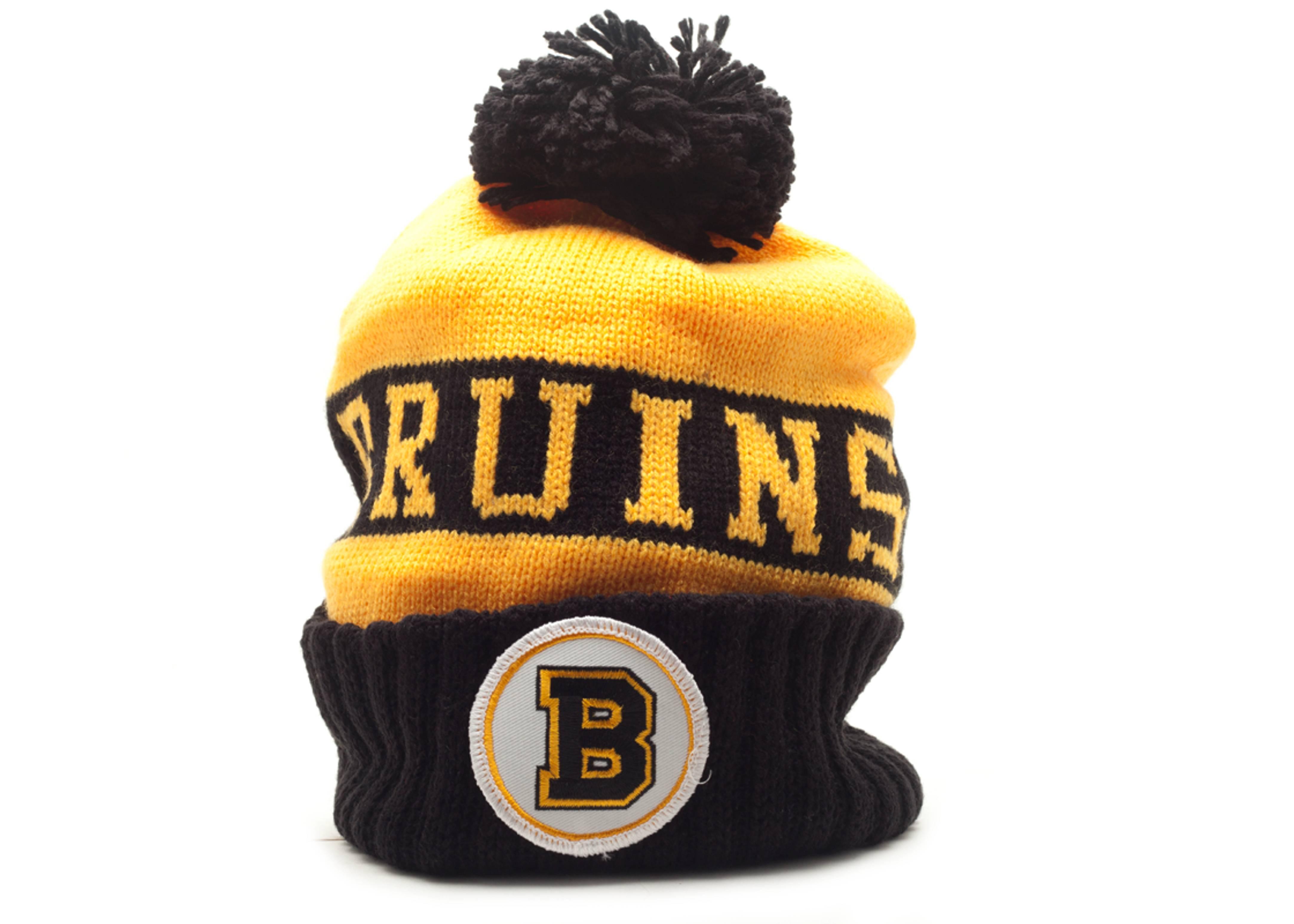 837fe1737c3 Boston Bruins Beanie - Mitchell   Ness - kb52mtc7bruin - yellow ...