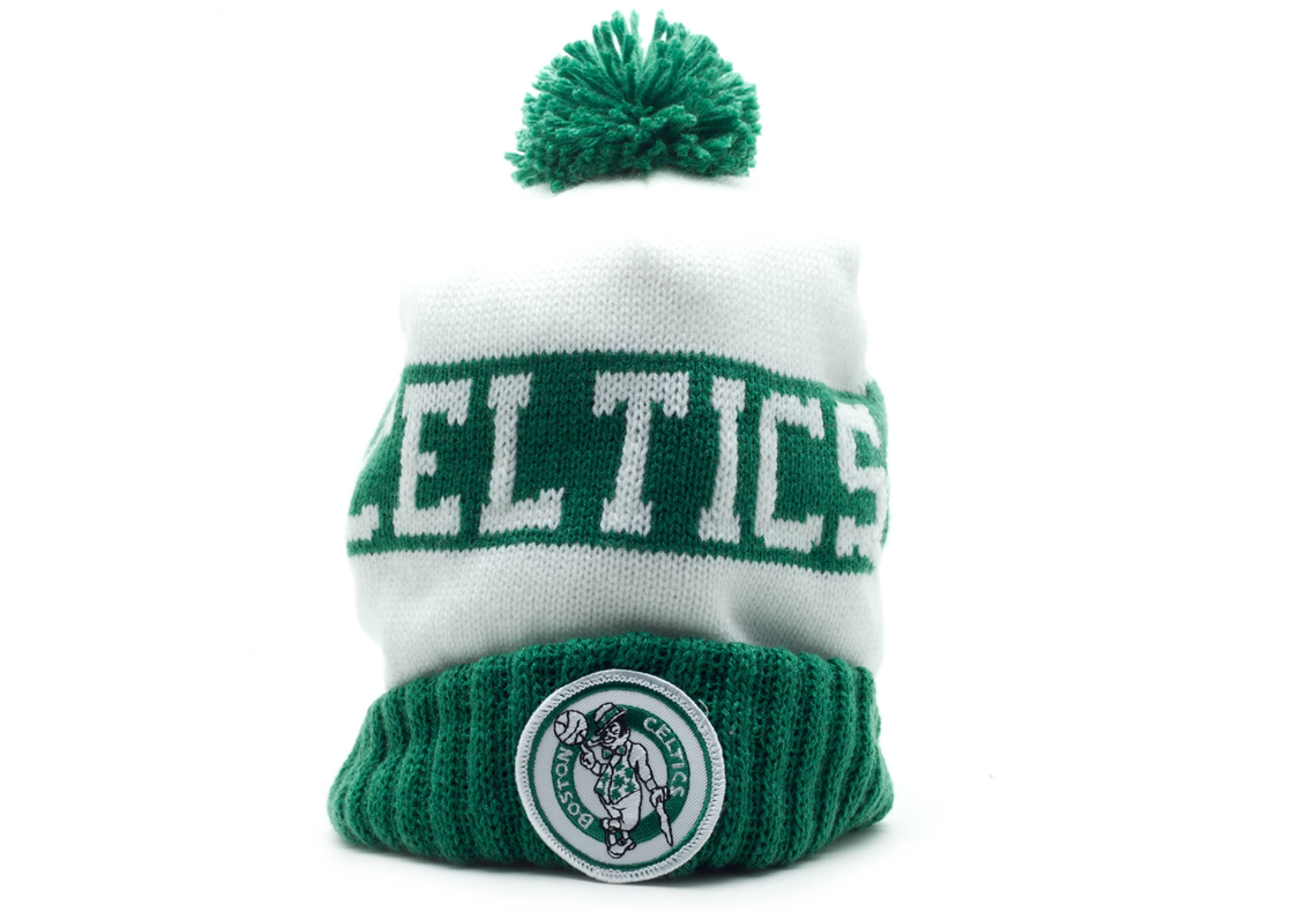 Boston Celtics Beanie - Mitchell   Ness - kd25mtc5celti - white green  e61a31ad9e72