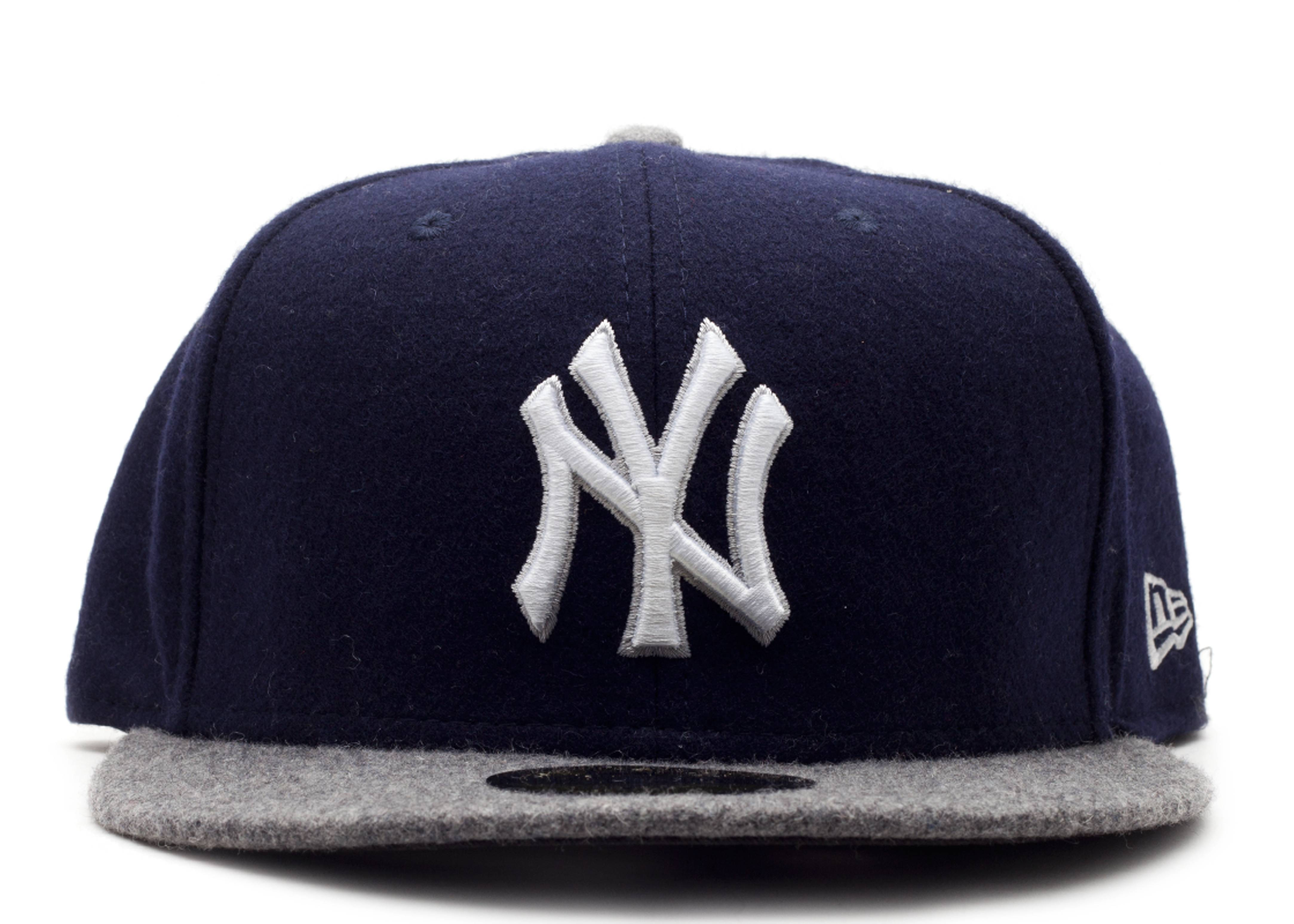"""new york yankees fitted """"melton wool"""""""