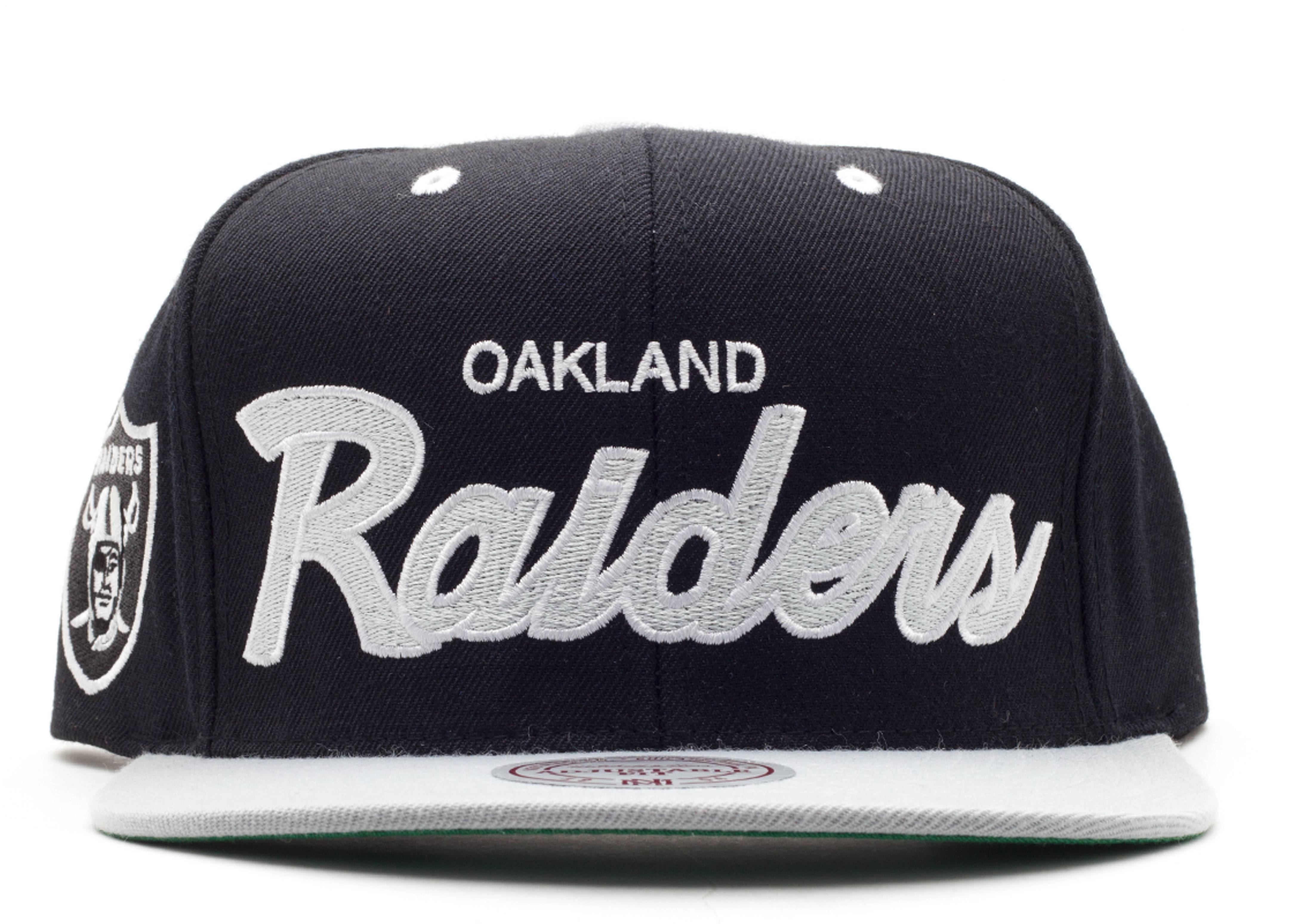 "oakland raiders snap-back ""script"""