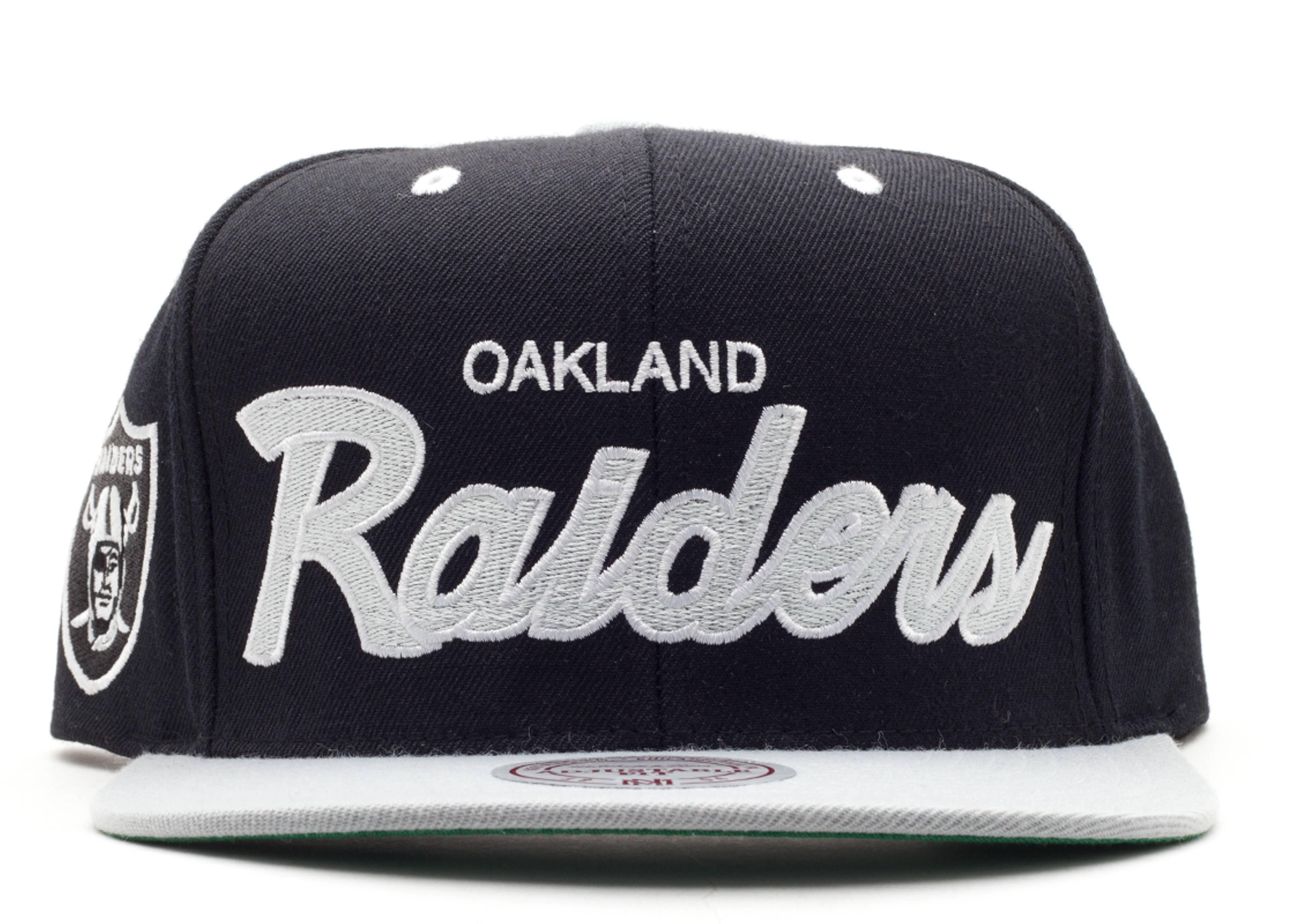"oakland raiders snap-back ""script"""