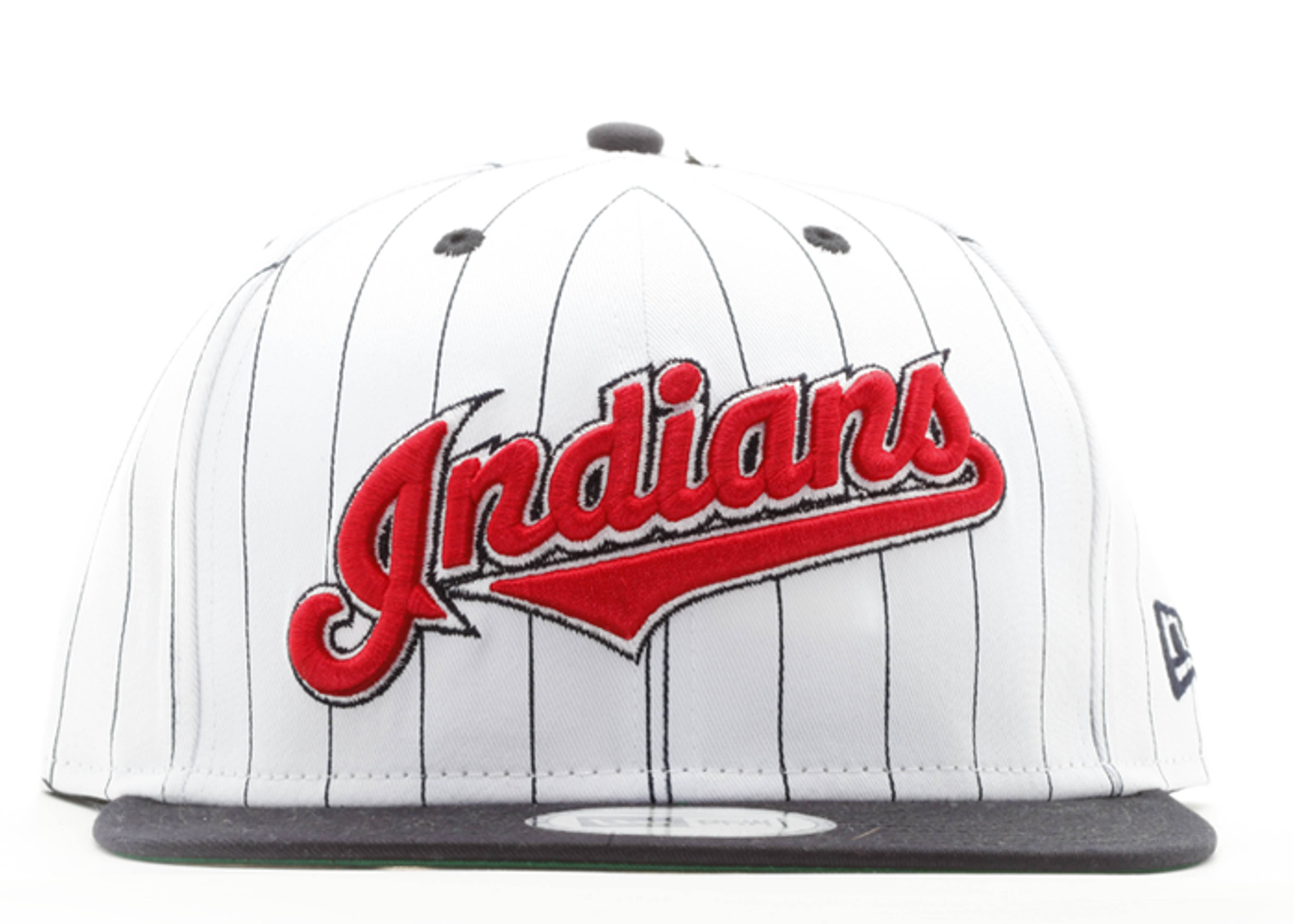 "cleveland indians snap-back ""pinstripe"""