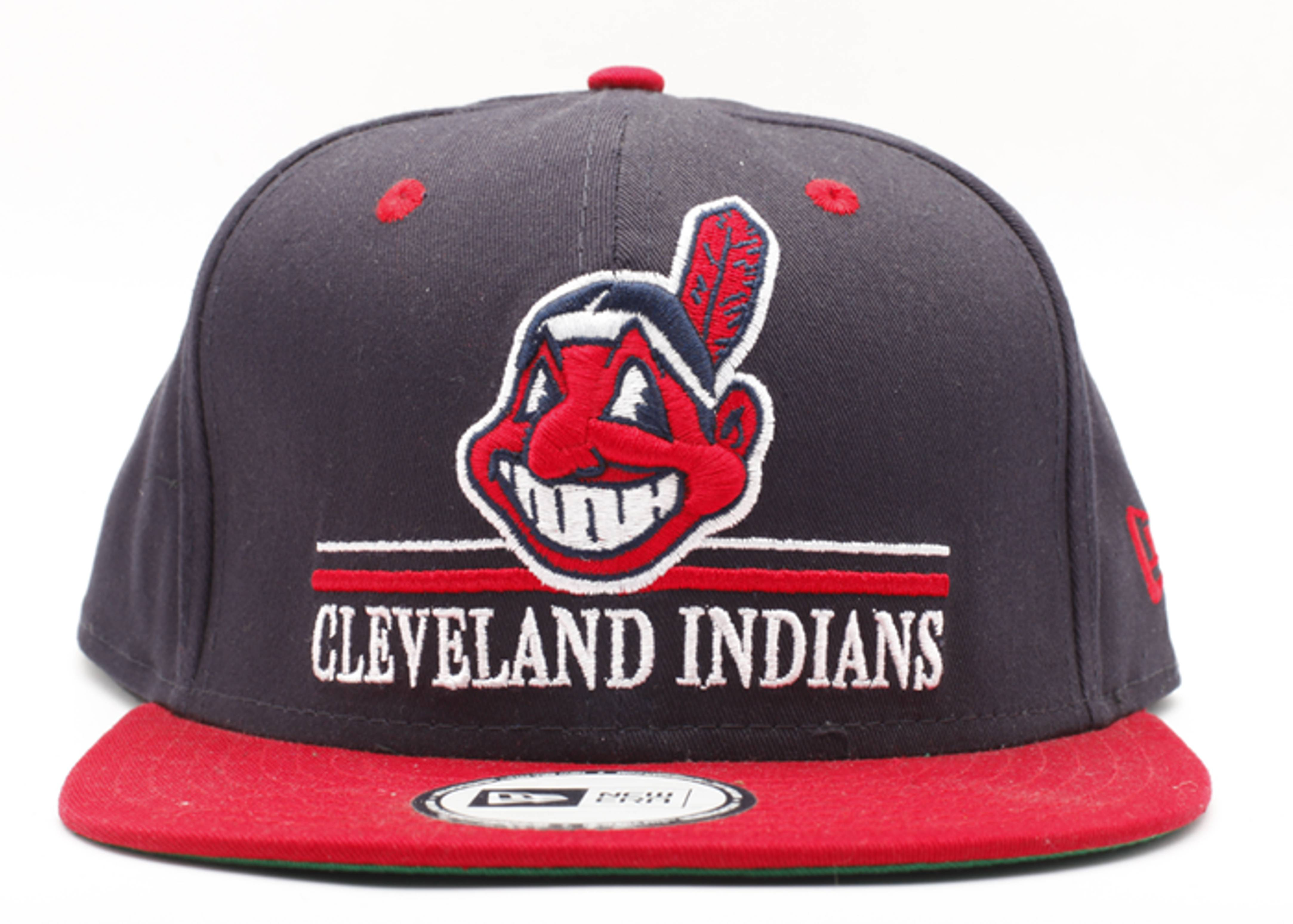 "cleveland indians snap-back ""underline"""