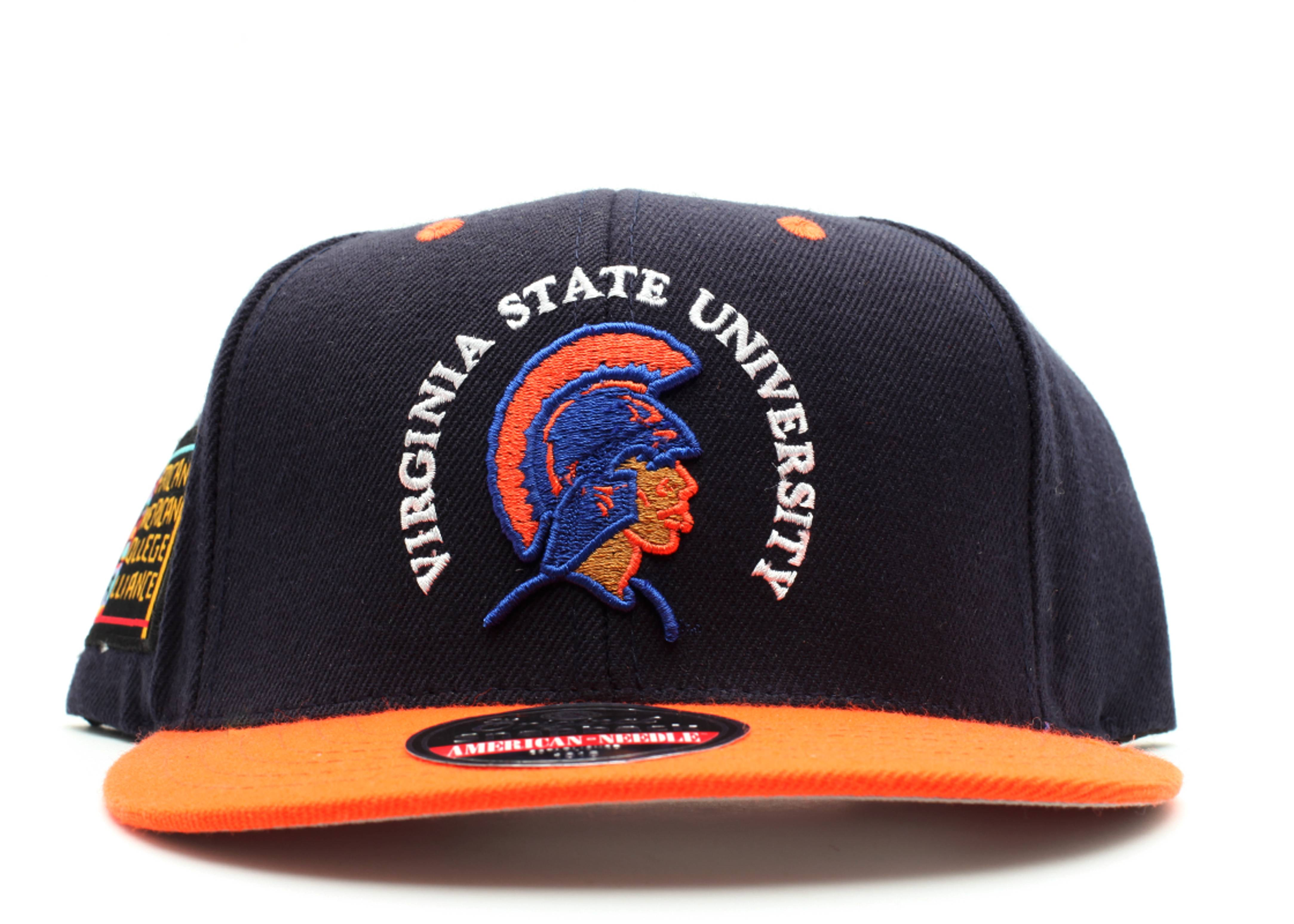 "virginia state university trojans snap-back ""aaca"""