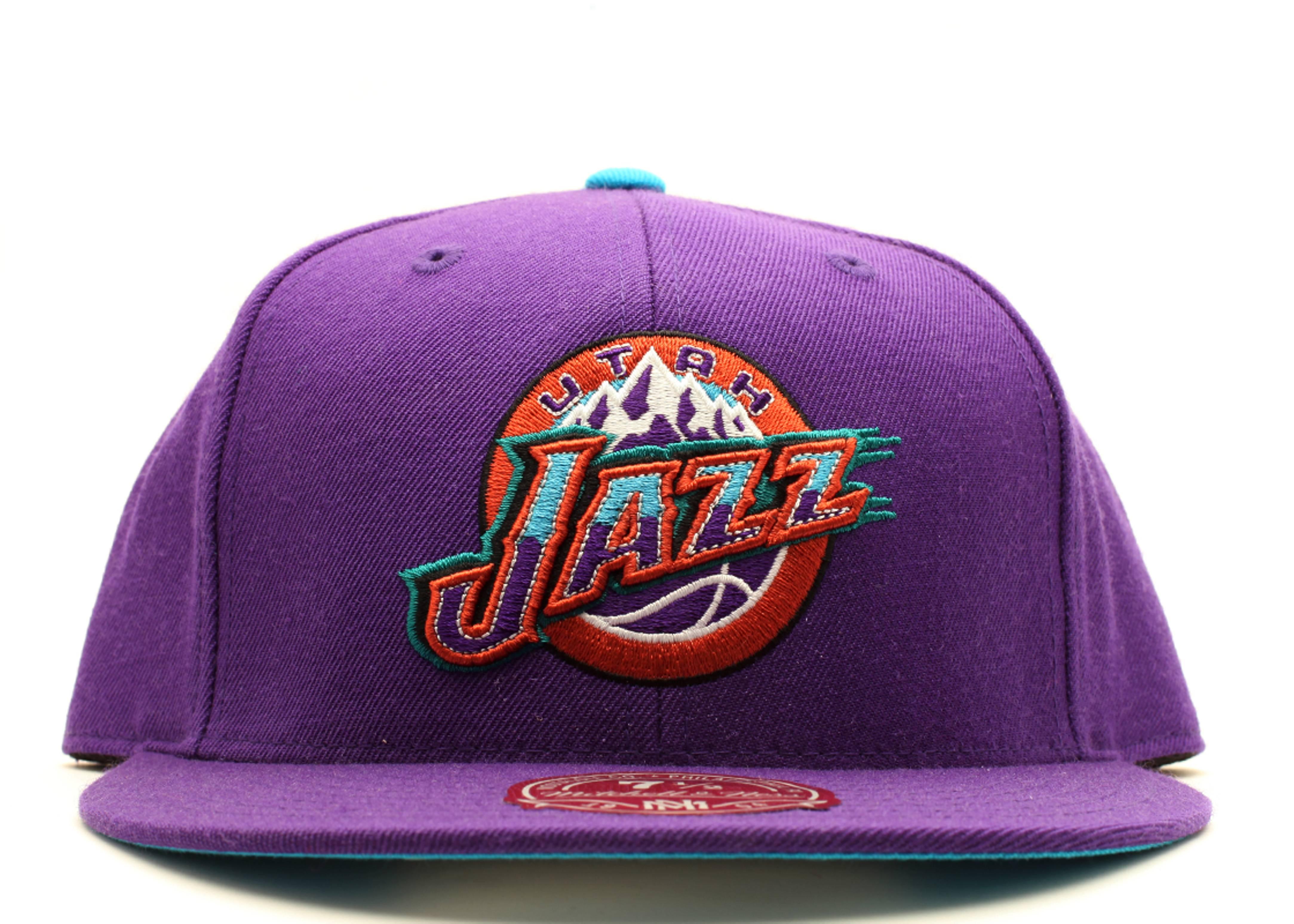 competitive price 897be 0ec81 Utah Jazz Fitted - Mitchell & Ness - tk41tpc5jazz - purple ...