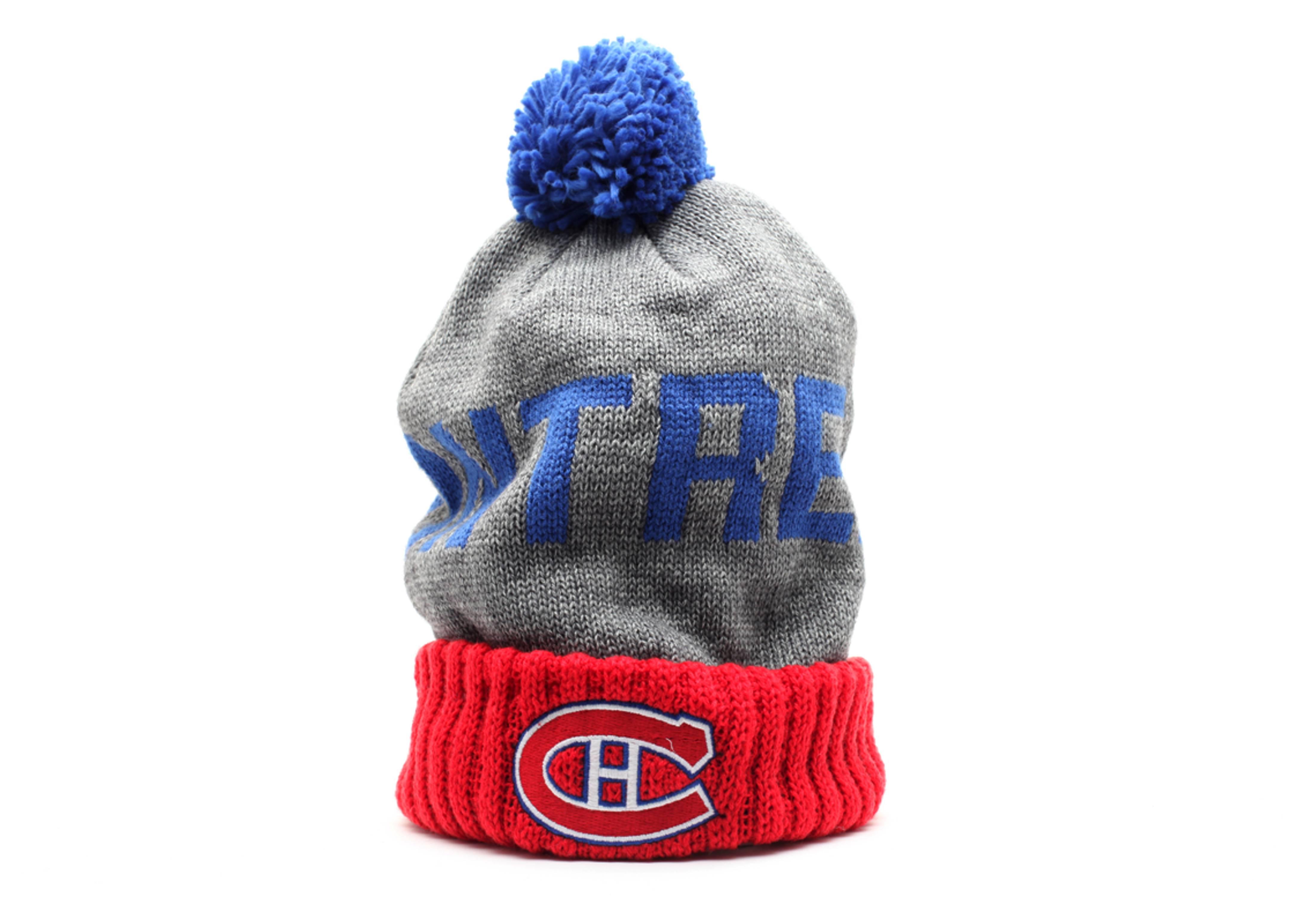 montreal canadiens cuffed pom knit beanie