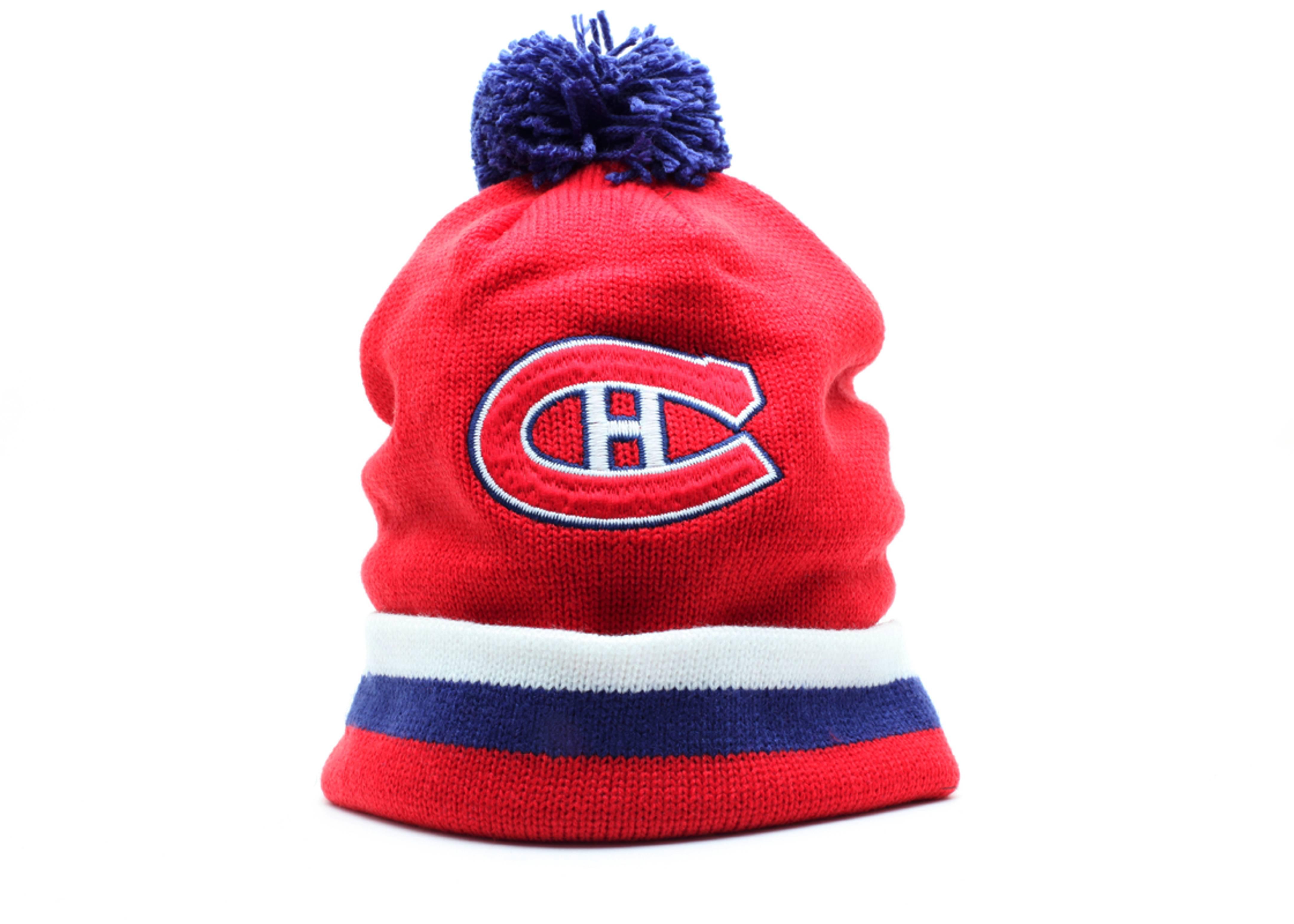 montreal canadians cuffed pom knit beanie