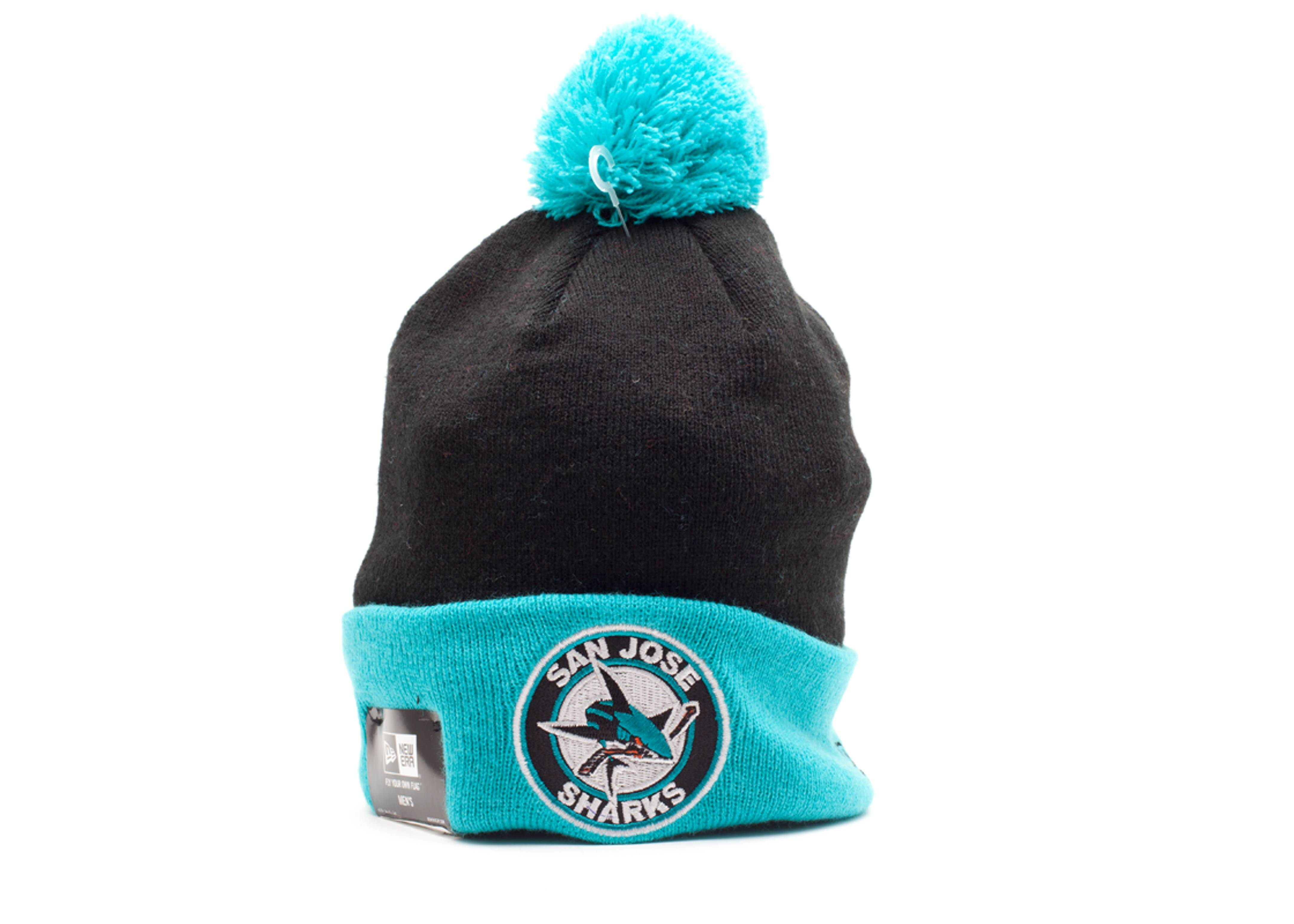 78c789428 San Jose Sharks Cuffed Pom Beanie - New Era - 10418574 - black/teal ...