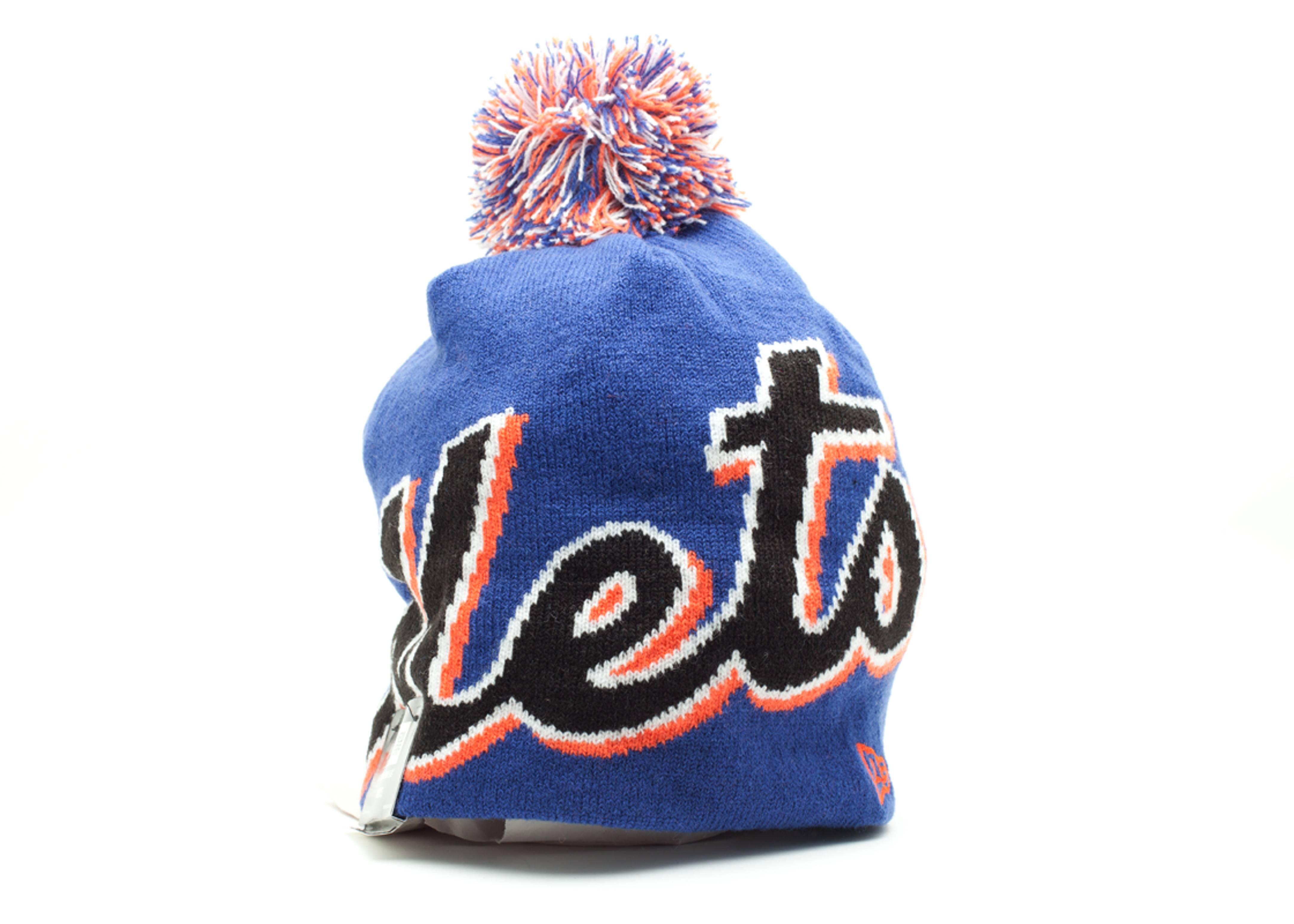 new york mets pom knit beanie