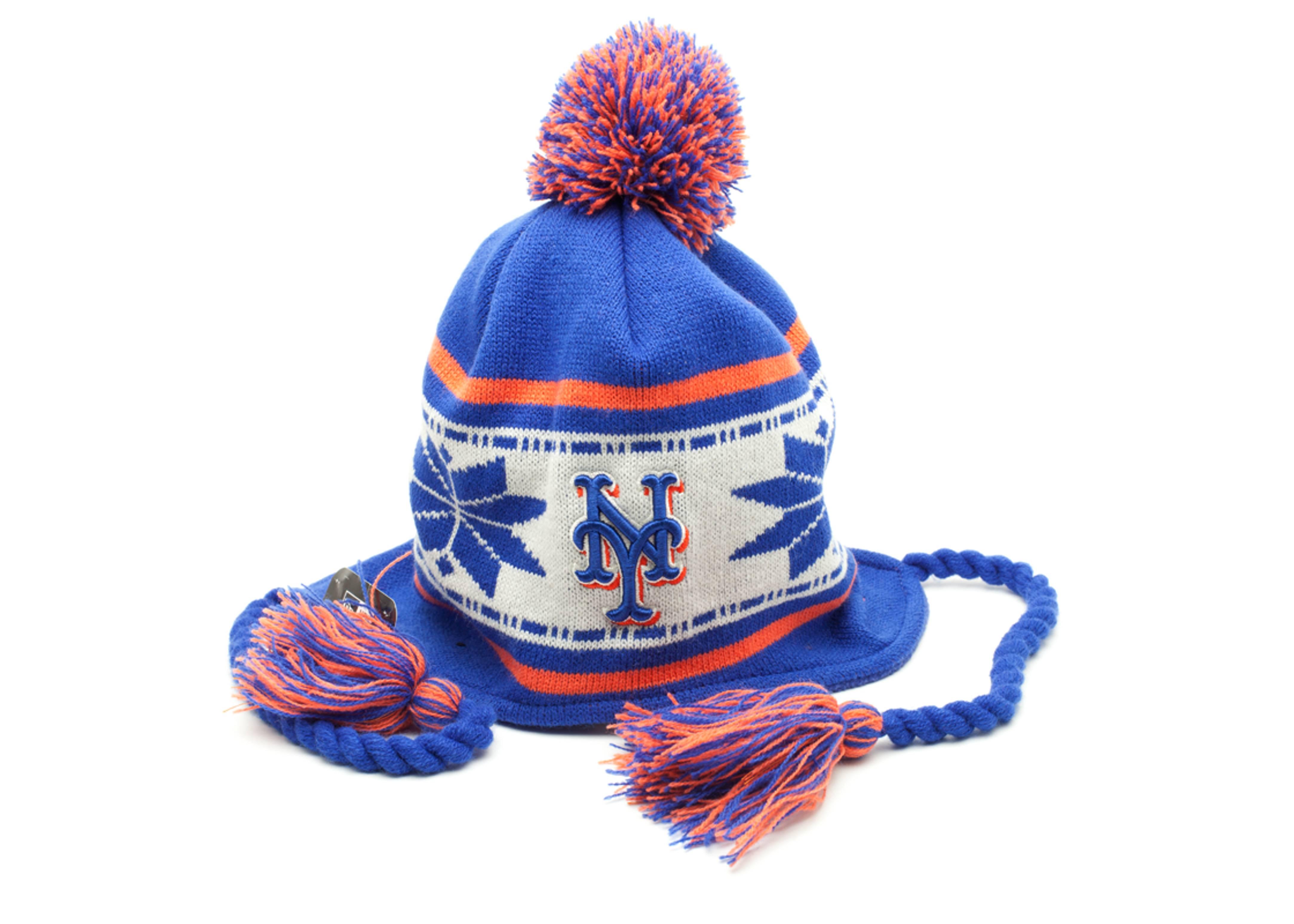 new york mets knit pom beanie