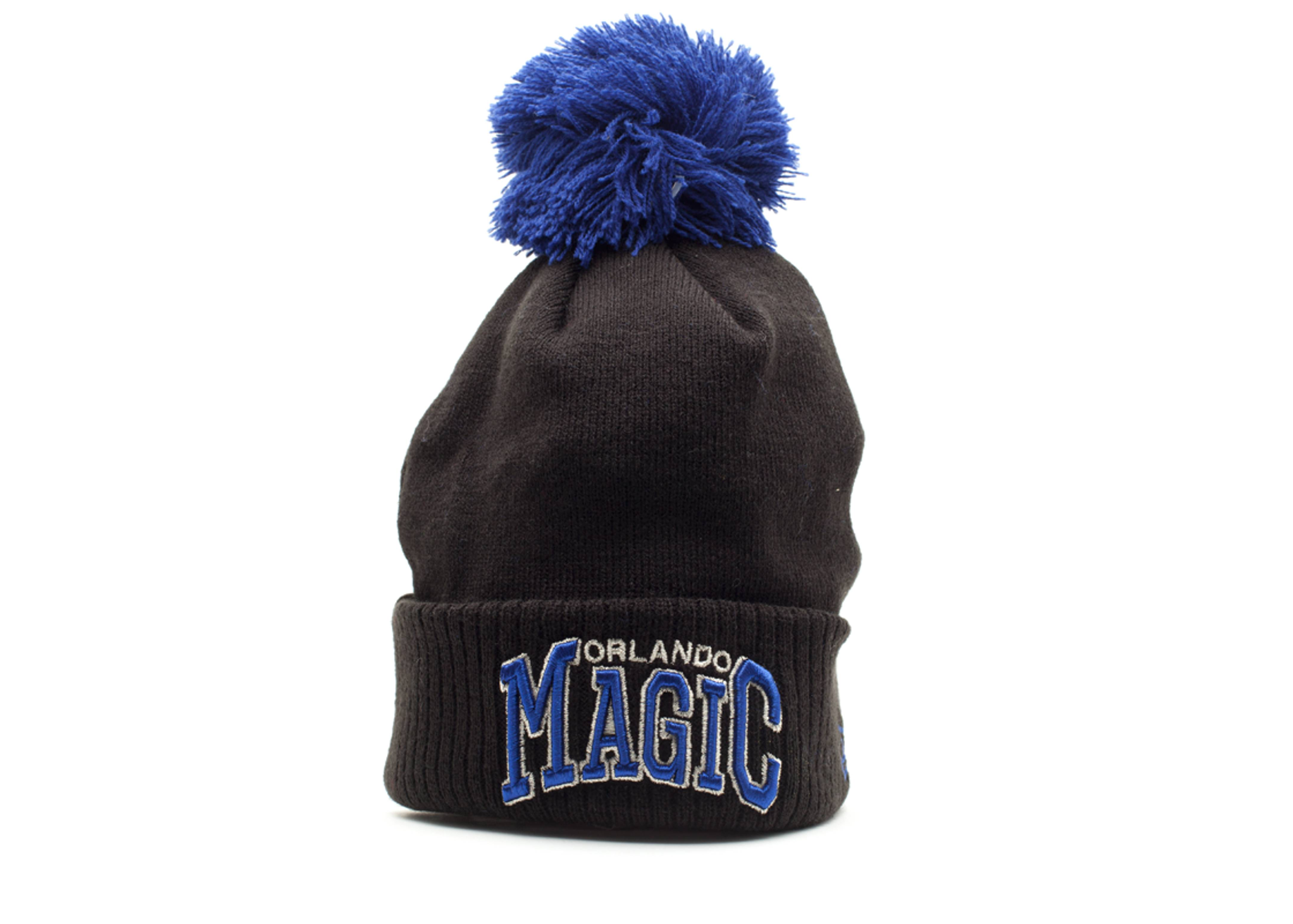 orland magic cuffed pom knit beanie