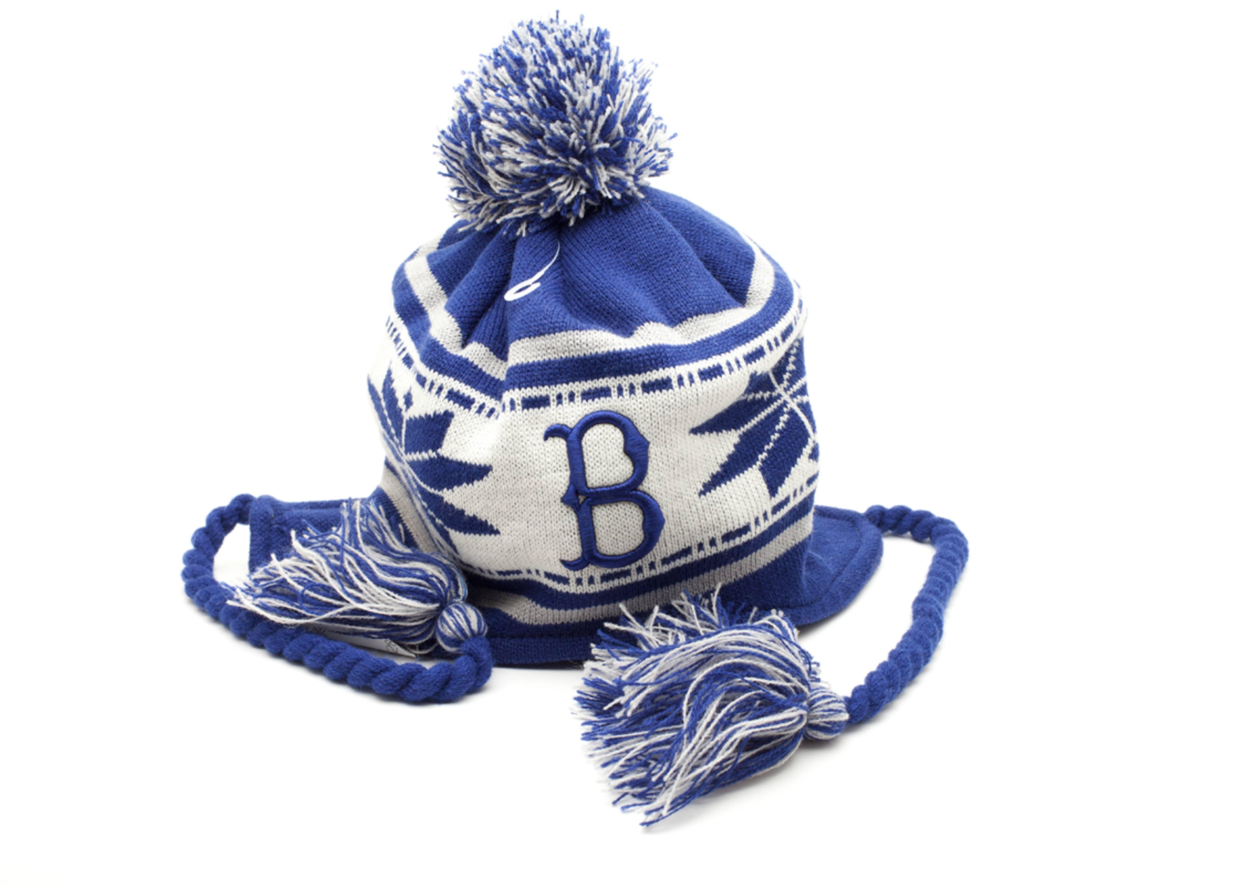 brooklyn dodgers pom knit beanie