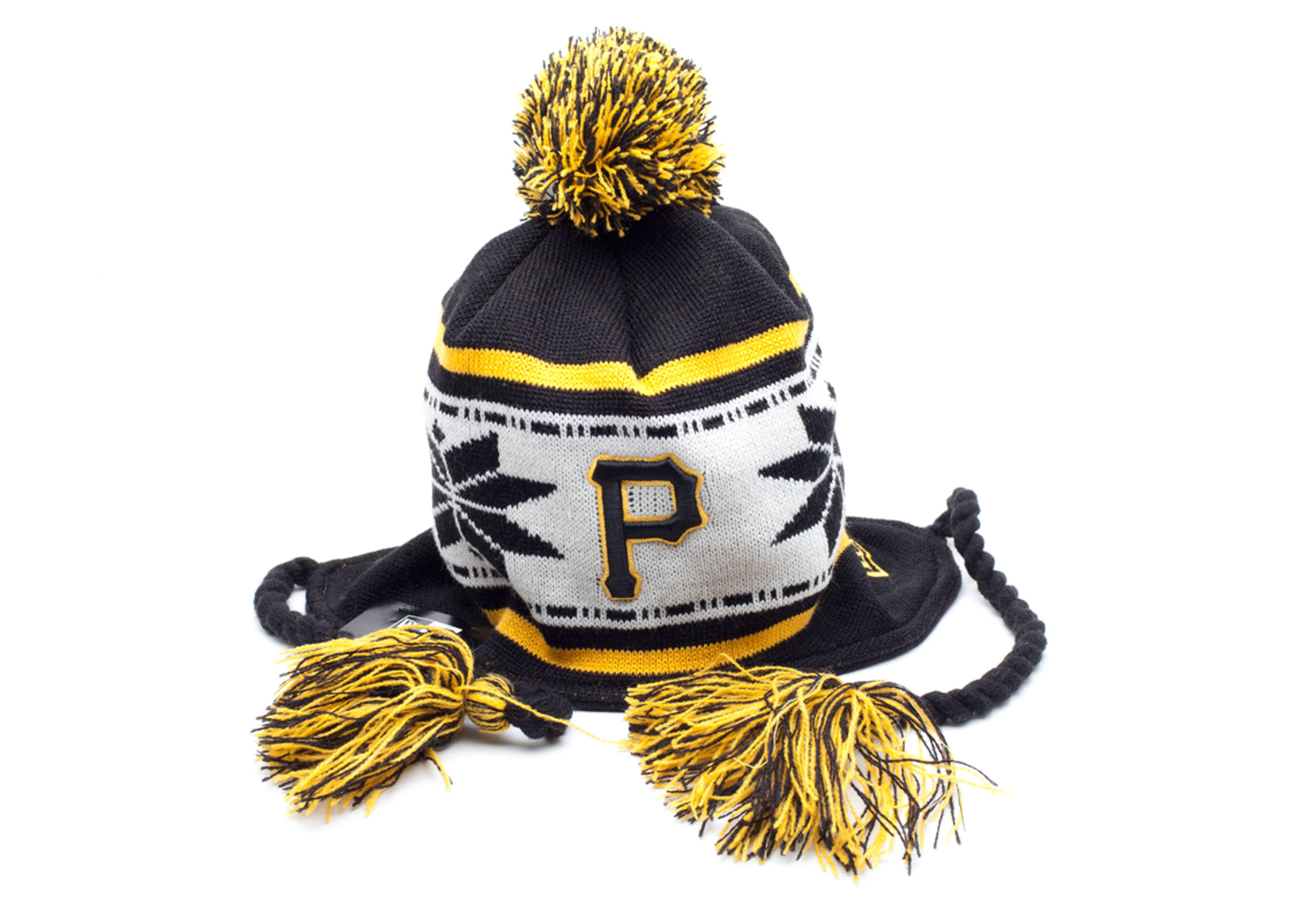 pittsburgh pirates pom knit beanie